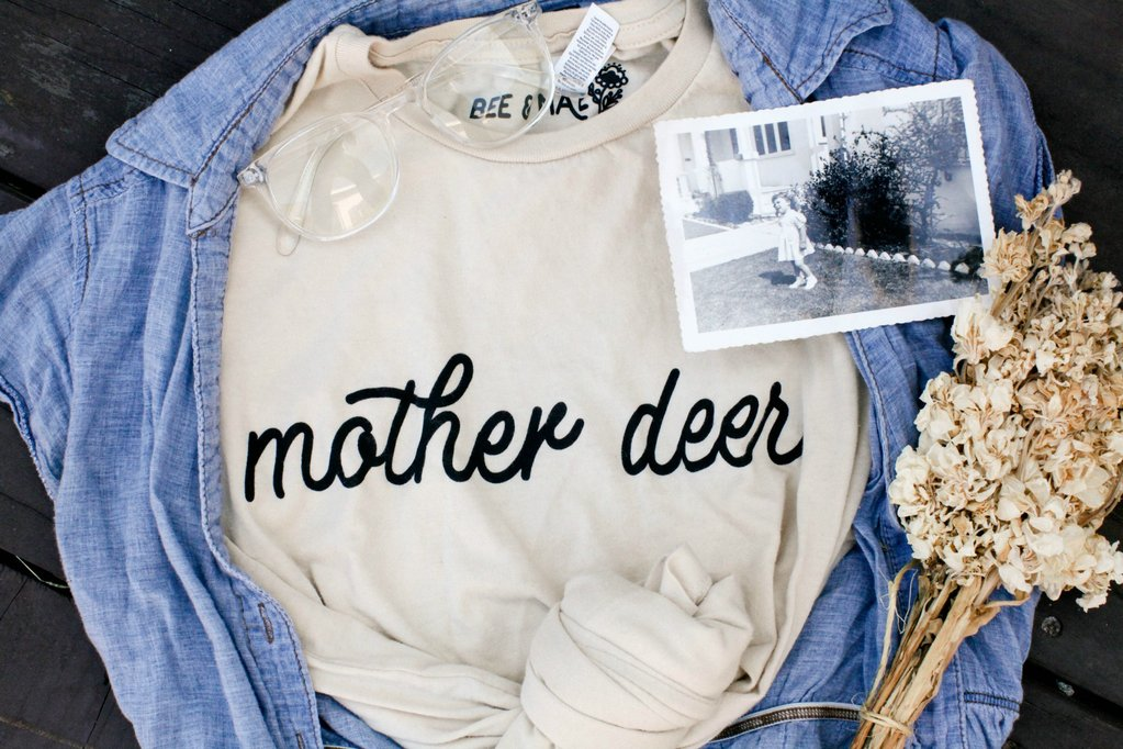 Bee and Mae Mother Deer T-shirt . I started following these gals on Insta and love their vibe.The tshirt is incredibly soft and comfortable.