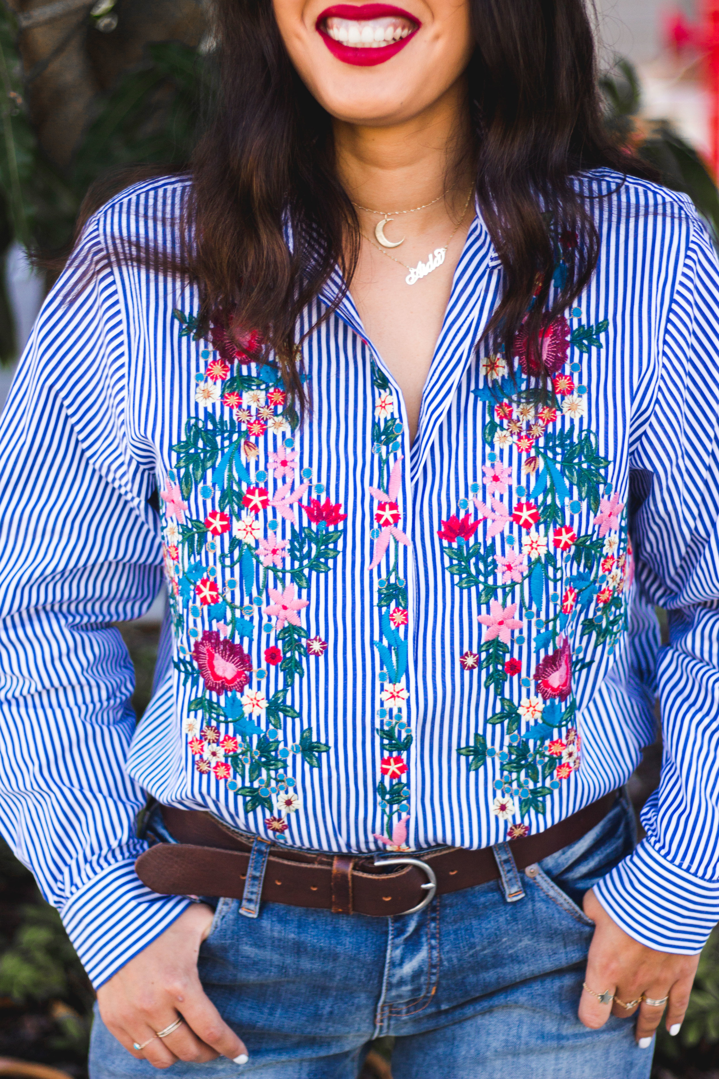 zara-embroidered-floral-striped-shirt