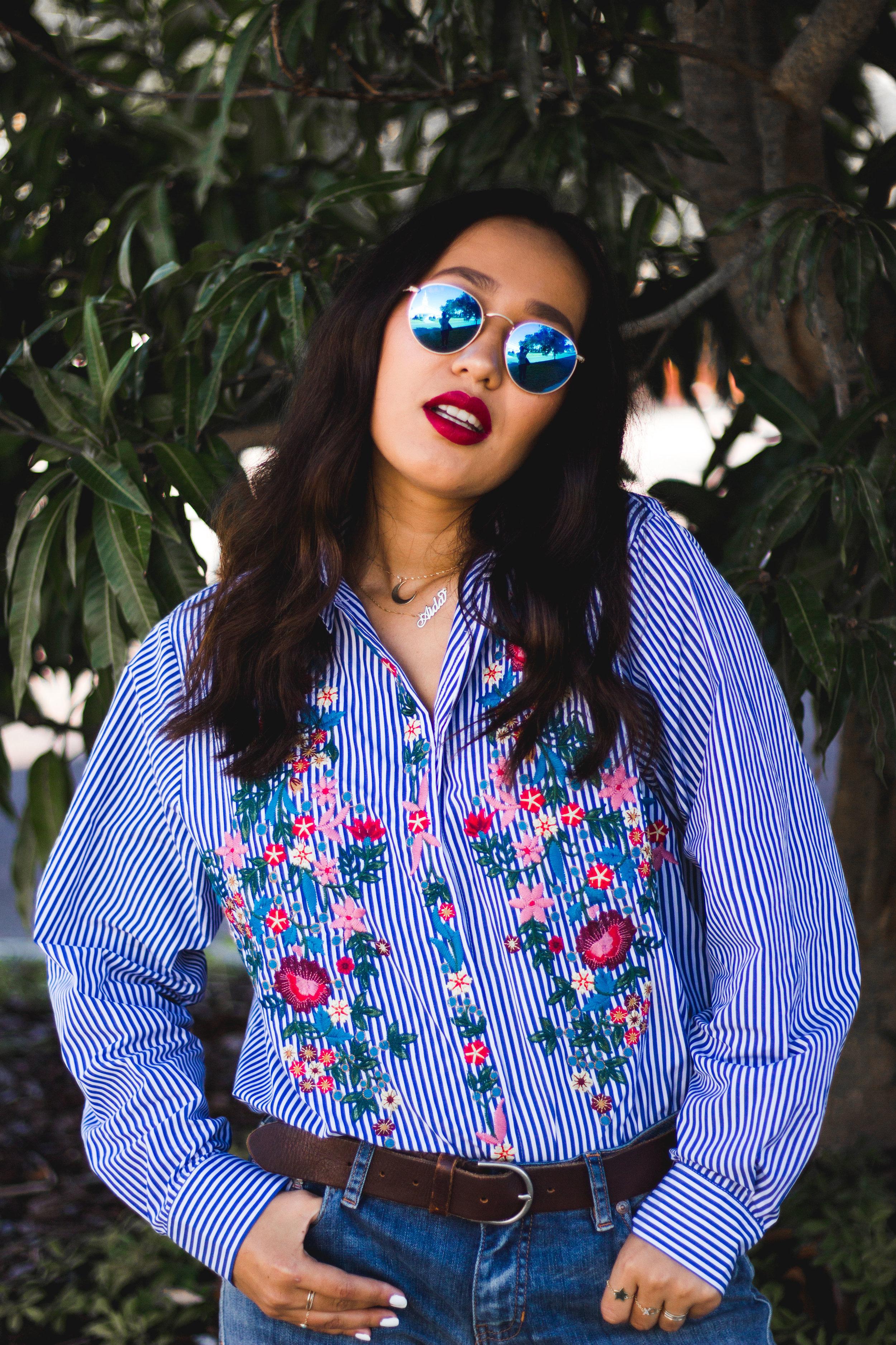 orlando-fashion-blogger-floral-shirt