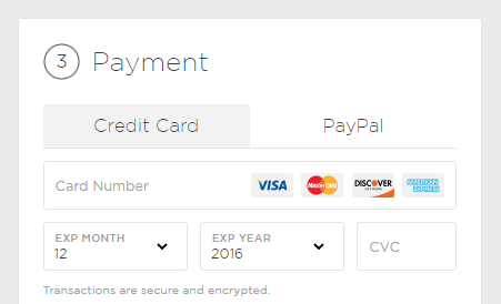 purchase entering credit card information