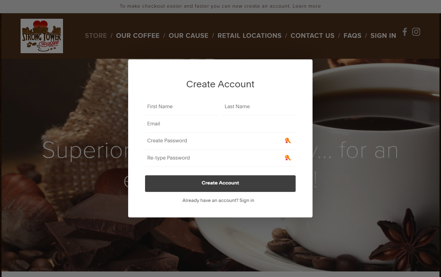 Introducing Customer Accounts on our website for fast, secure checkout.