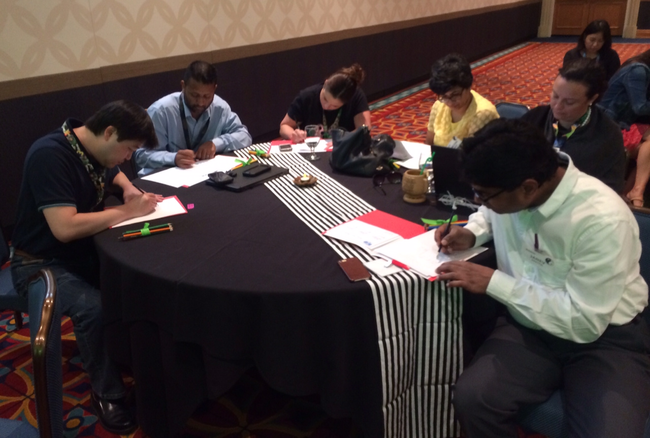 deloitte feng shui workshop disneyland with attendees working on bagua map renderings  .jpg