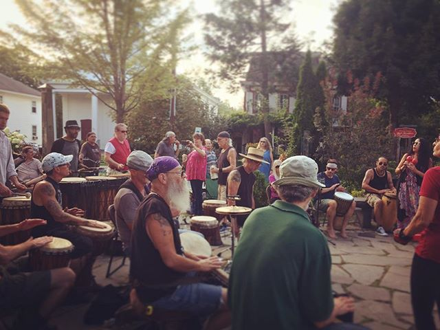 After attending a weekend long workshop on #Storytelling in Stone Ridge, NY, I drove up to #Woodstock for a free weekly community drum circle held  Sunday ( weather  permitting) on the Village Green. If your intrested in attending, I recommend participating if your ever in the area.  #drum, #drumcircle,#Sunday,#fun,#stoneridgeny,#catskillmountains,#weekend,#community,#dance,#bodymovement,#nature,#rhythm,#art