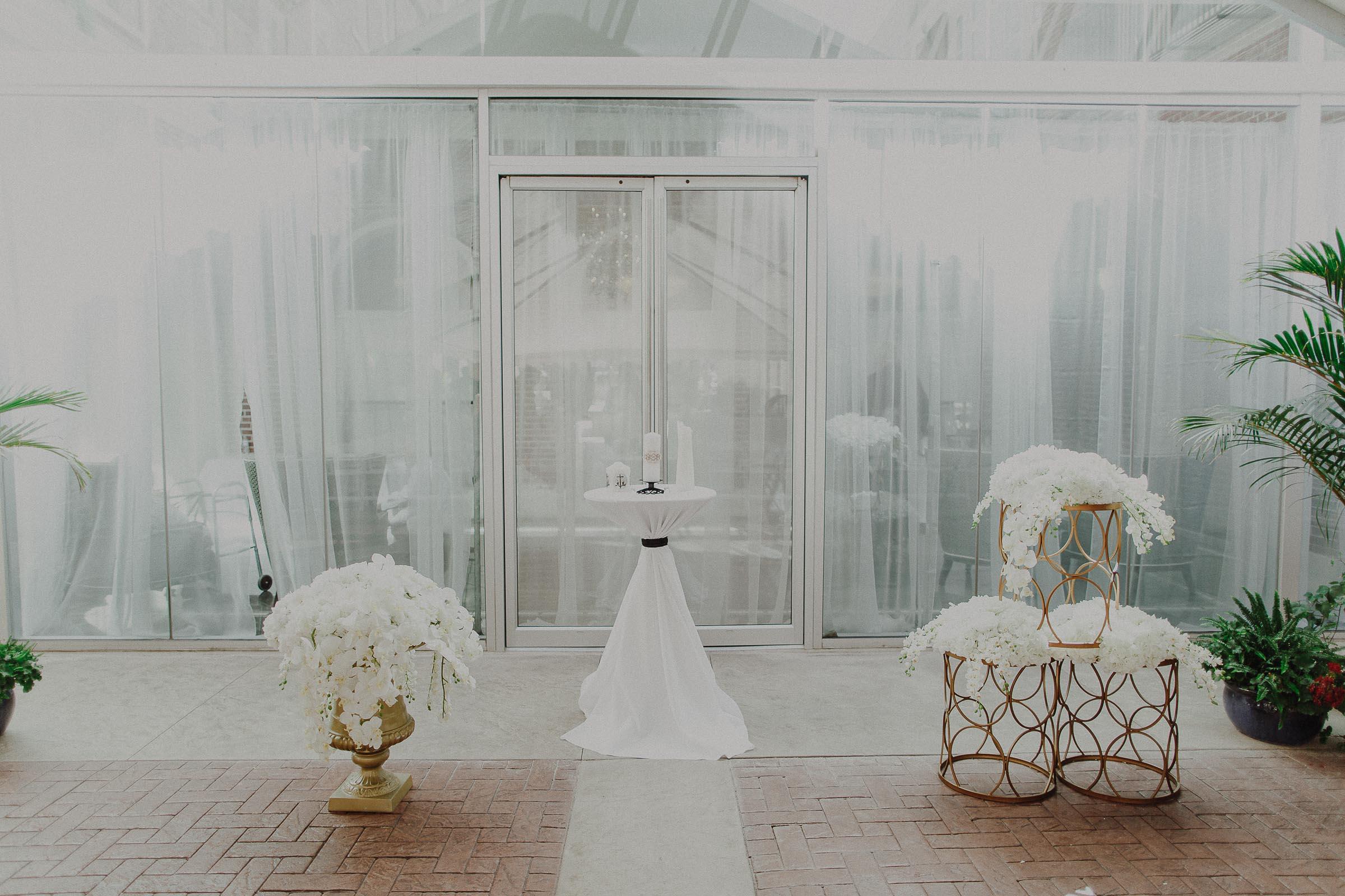 epic flower piece for wedding ceremony