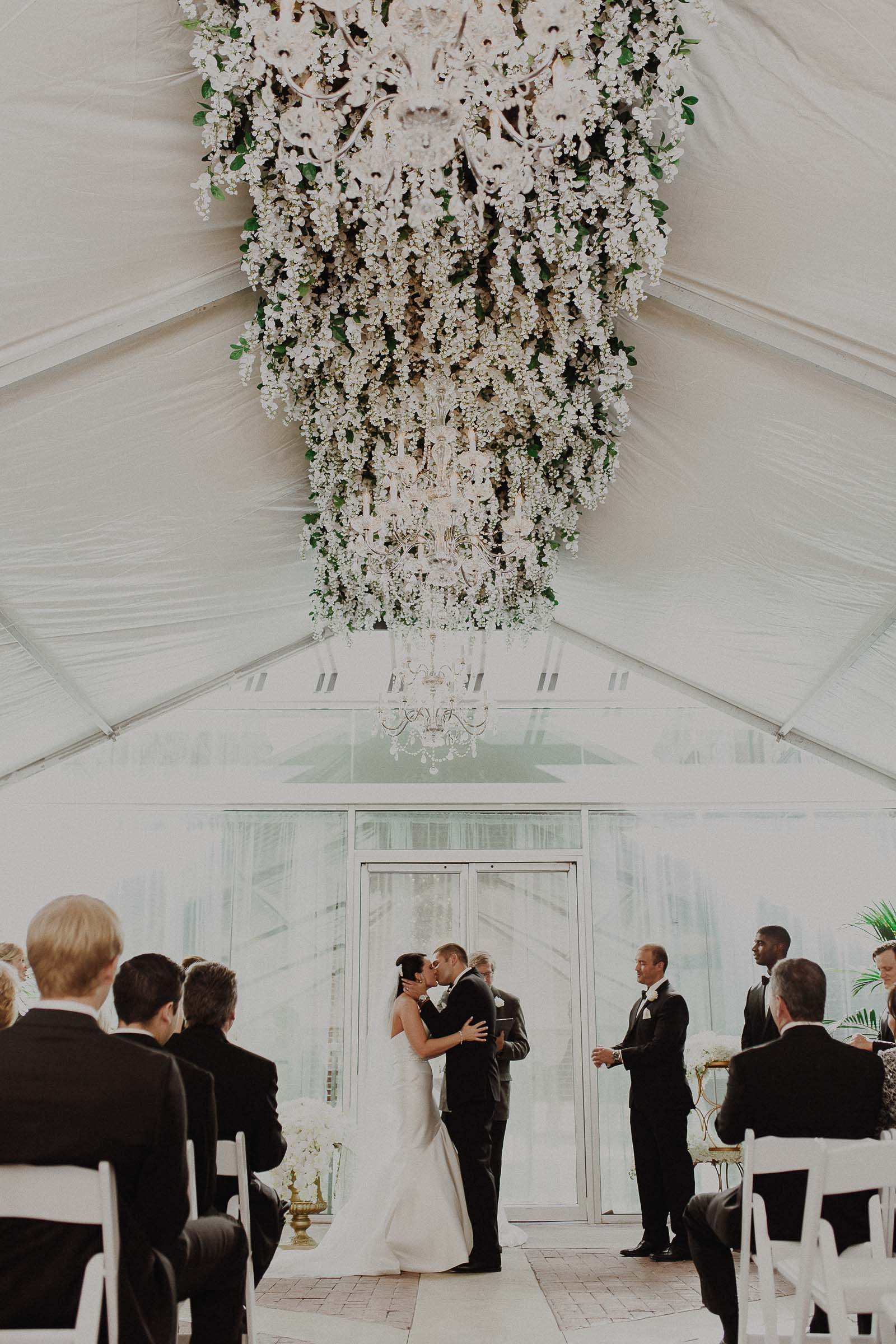 epic flower piece for wedding ceremony
