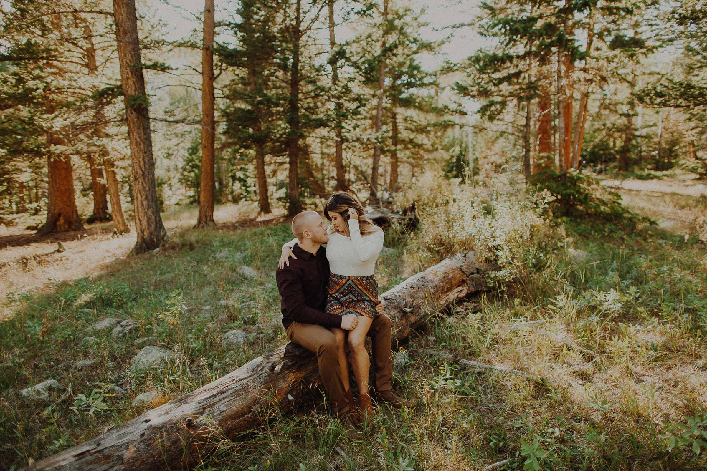 Jake + Daphne  Adventure Love Session on Old Fall River in Rocky Mountain National Park Colorado     view