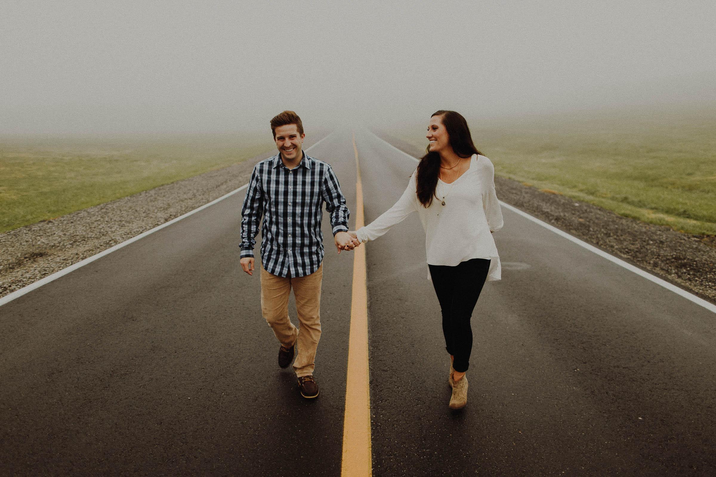 Josh + Kaitlin  Foggy Omaha, Nebraska Engagement Session     View