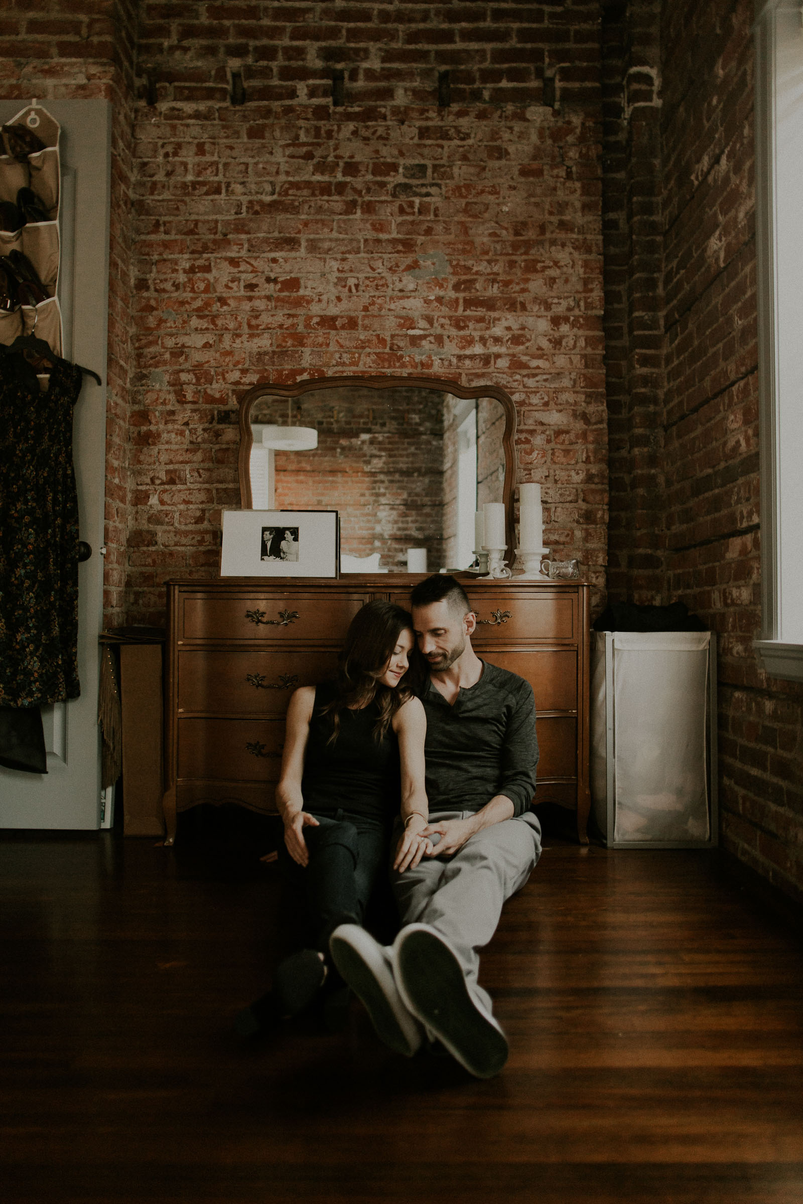 Daniel + Jackie  In Home Engagement Session in Omaha, Nebraska   View