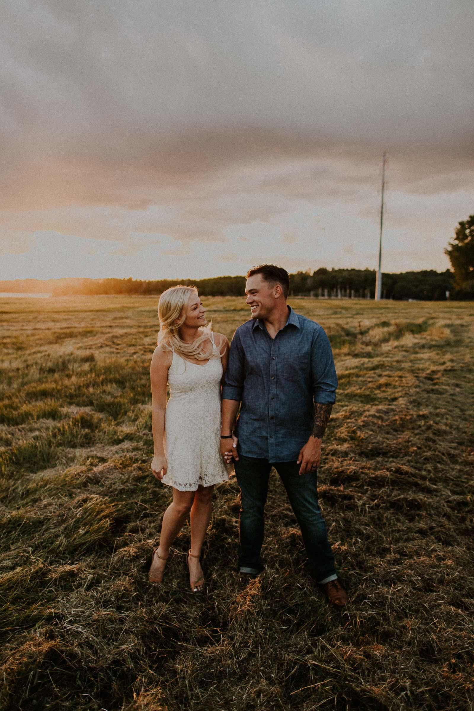 Sam + Karissa  Lake Cunningham Couples Session in Nebraska   VIEW