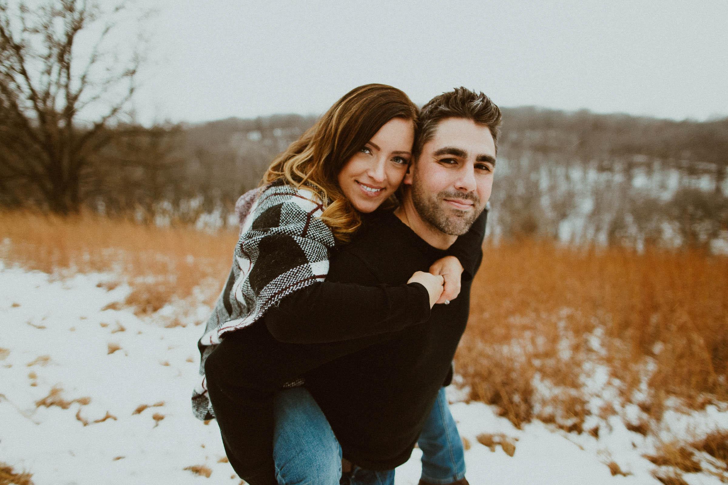Nate + Jill  Snowy Omaha, Nebraska Engagement Session   VIEW
