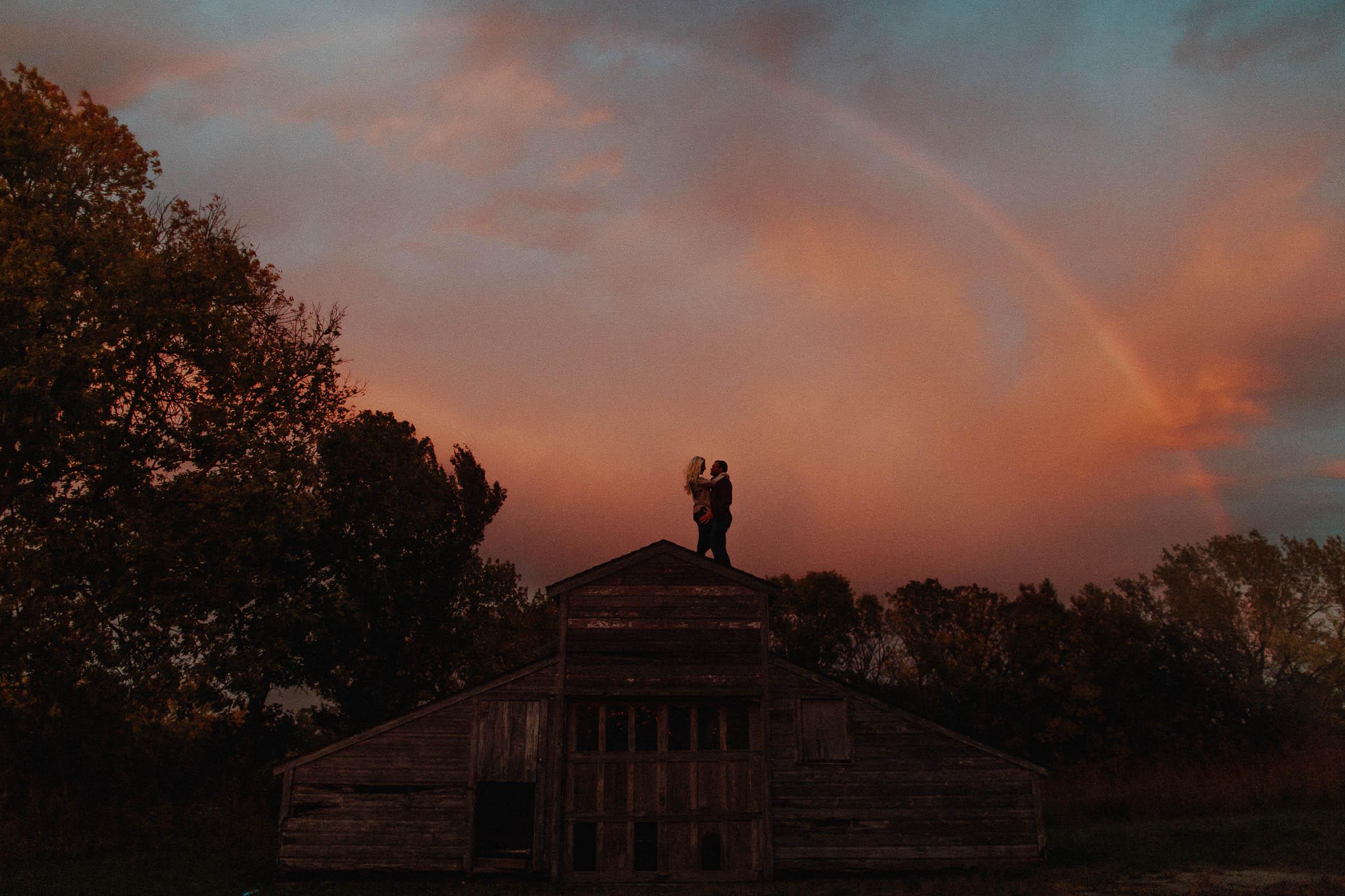 Jarrod + Allison  Beautiful Rainbow & Sunset Engagement Session   VIEW