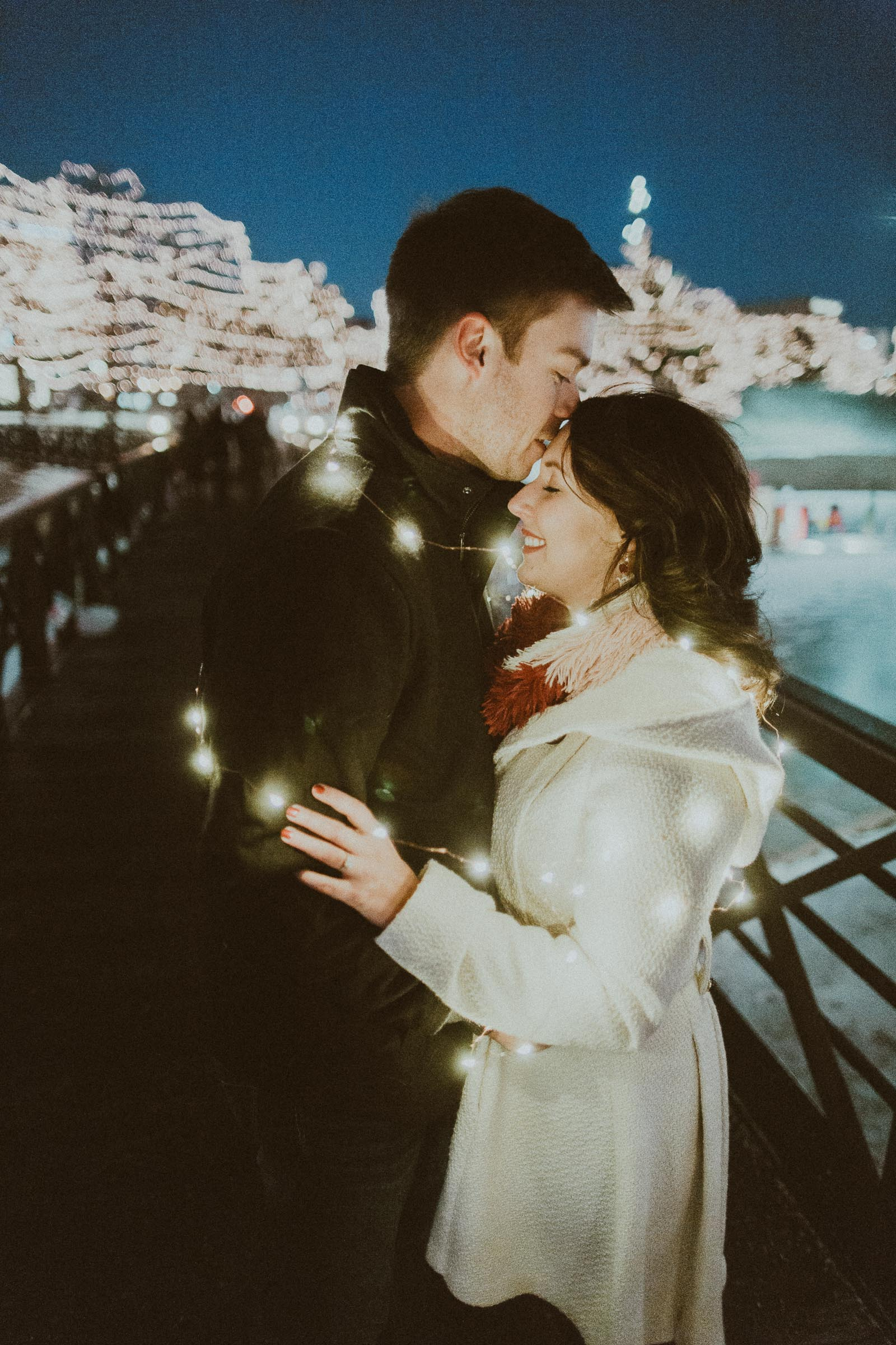 Justin + Breahn  Christmas Lights Omaha, Nebraska Engagement Session   VIEW