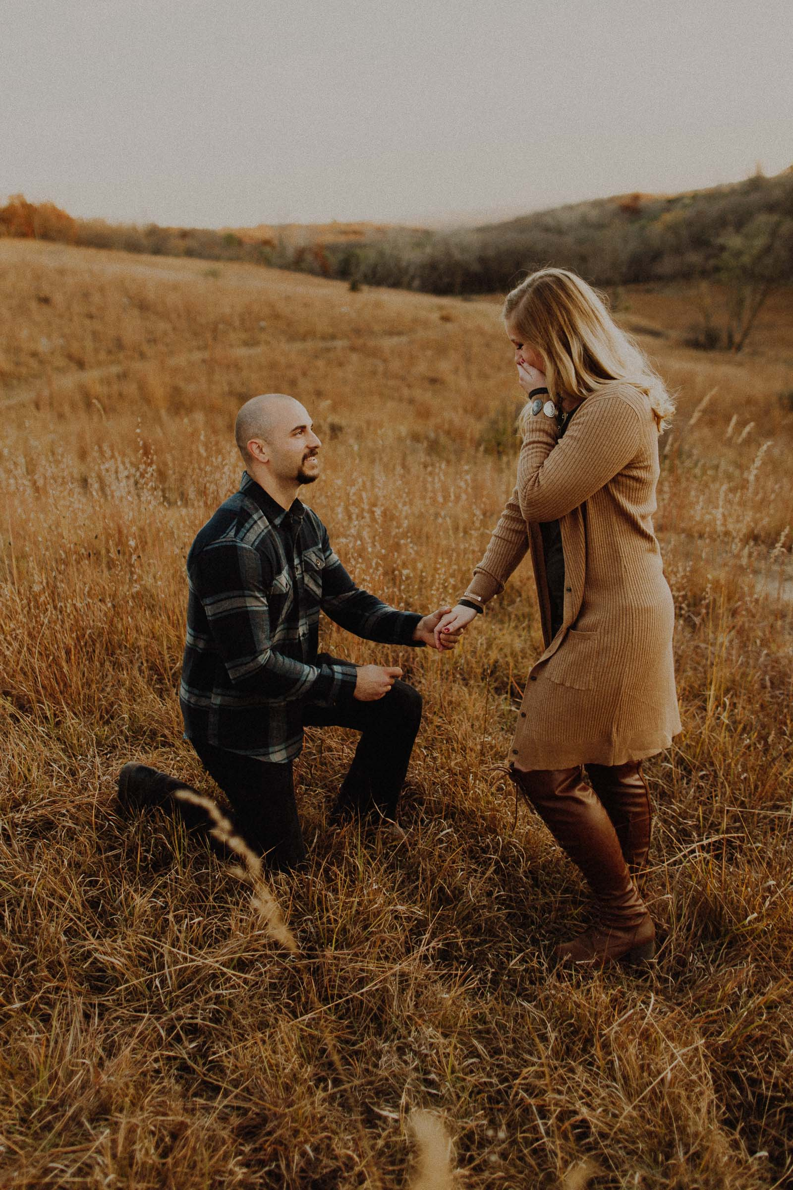 Colin + Baylee  Surprise Proposal at Neale Woods   VIEW