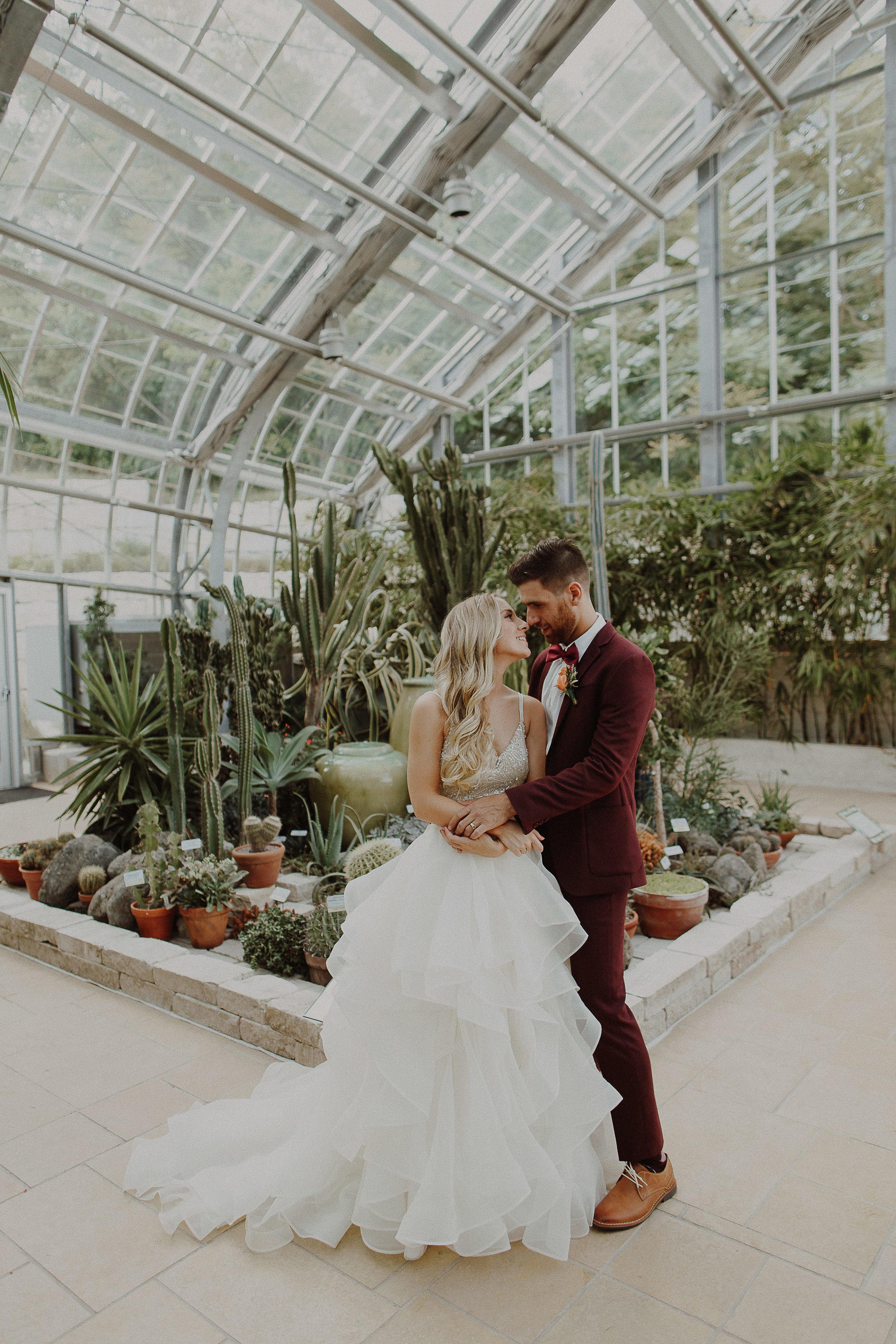 Johnny + Tanna    Lauritzen Gardens Modern Outdoor Ceremony Wedding     View
