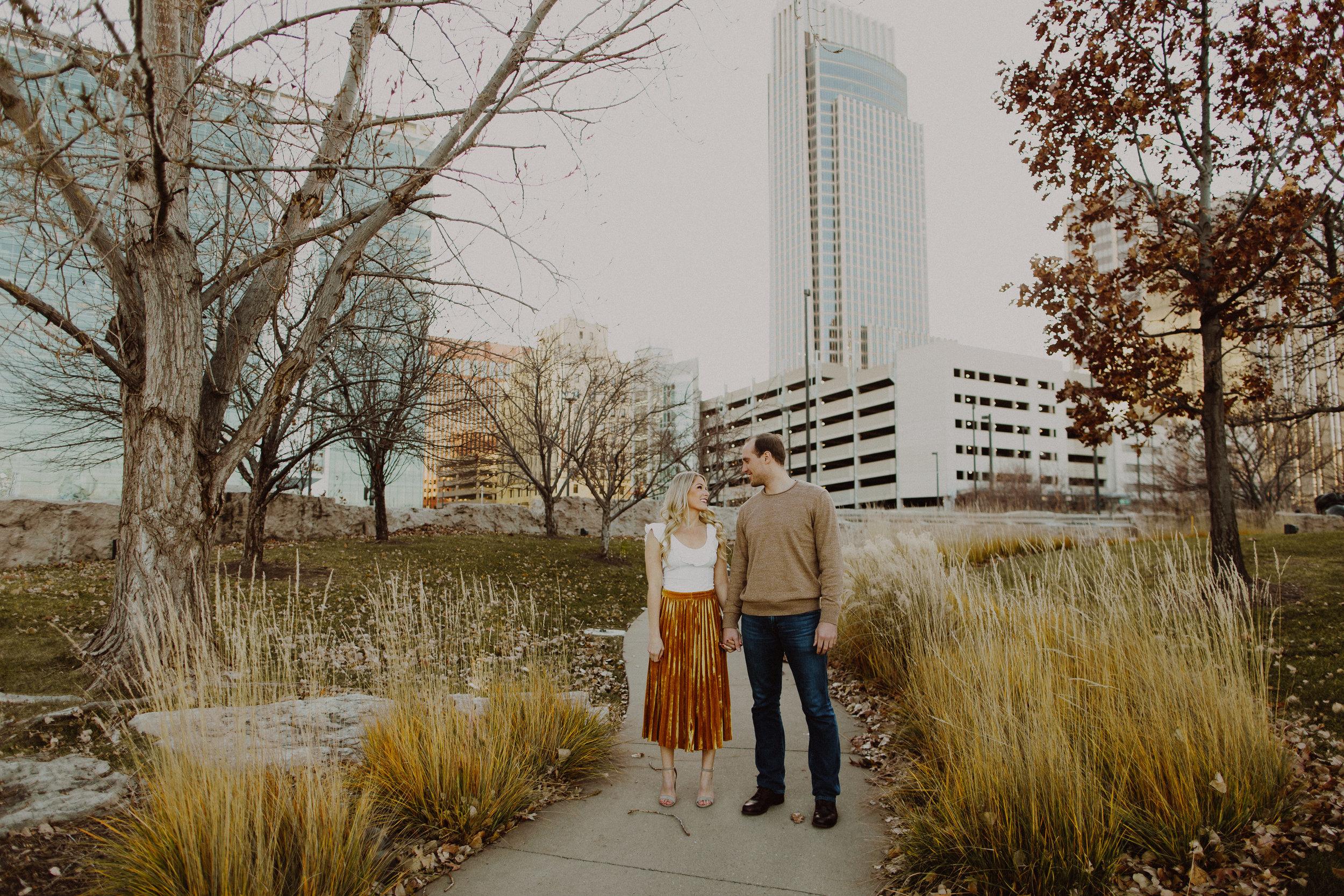 Chris + Paige Omaha, Nebraska Engagement Session   VIEW