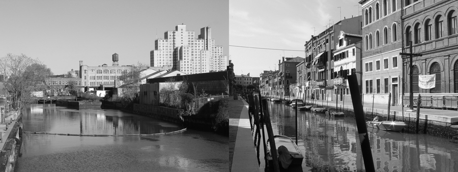 The Grand Gowanus, no.4 ,  series,  2008, giclée prints, 4-1/8 x 11 inches, stereo prints presented in custom paper portfolio