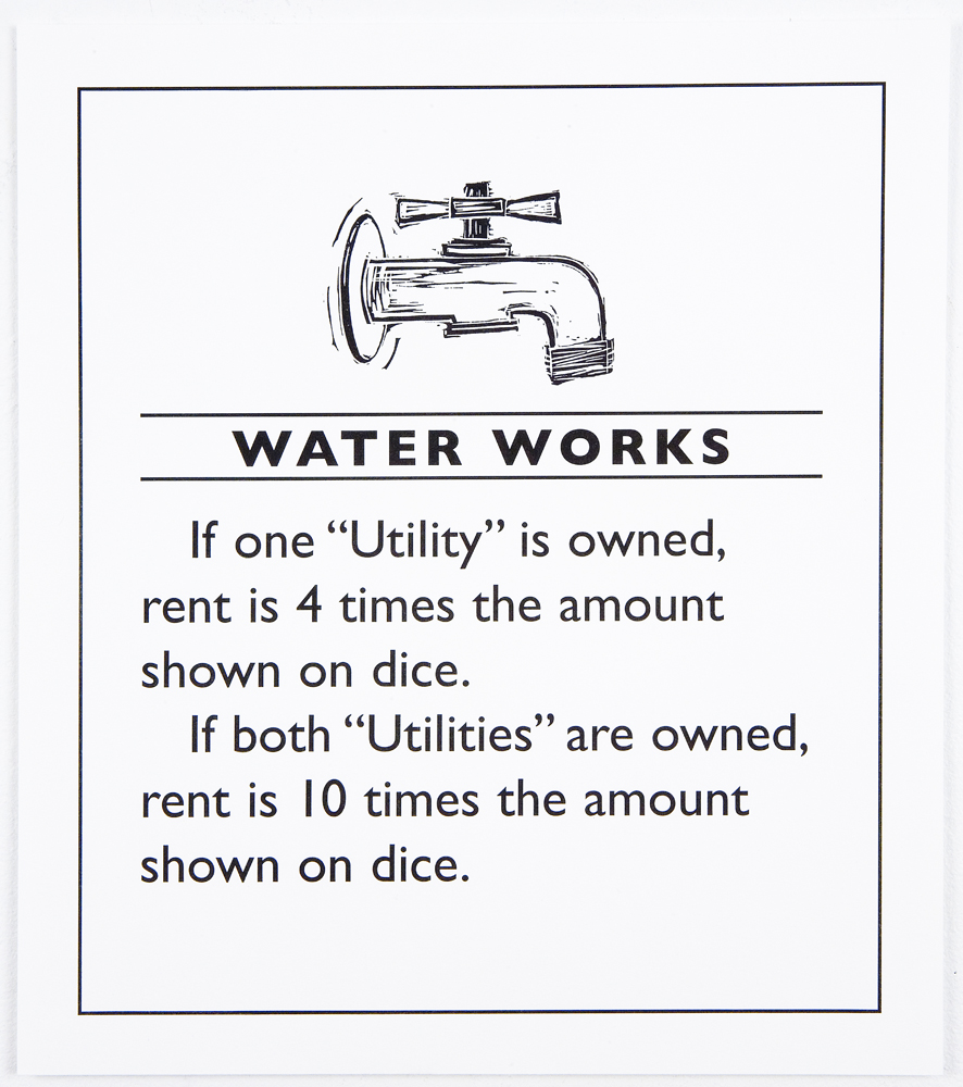Utilities: Water Works,  2008, Letterpress using linoleum cut and polymer plate on Magnani Incisione, Edition of 140, 13-1/2 x 11 inches