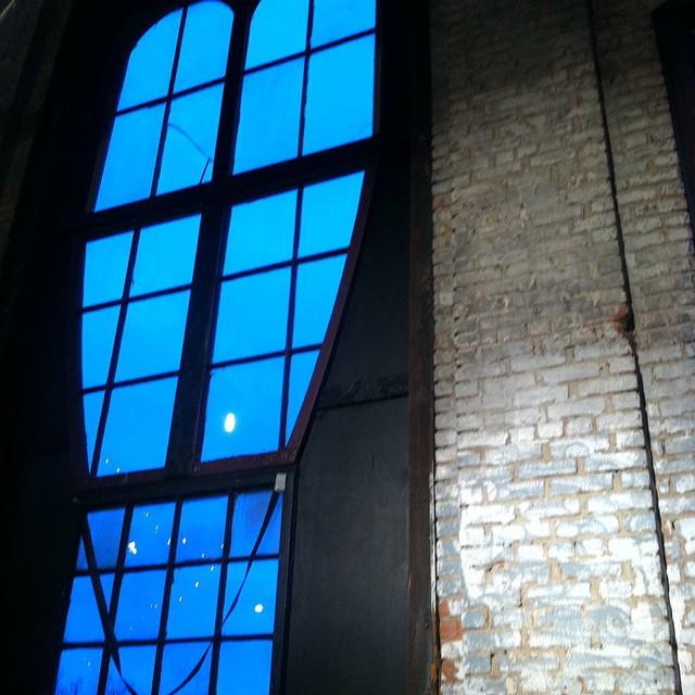 Heart window. At #basilicafarmandflea for one last day.