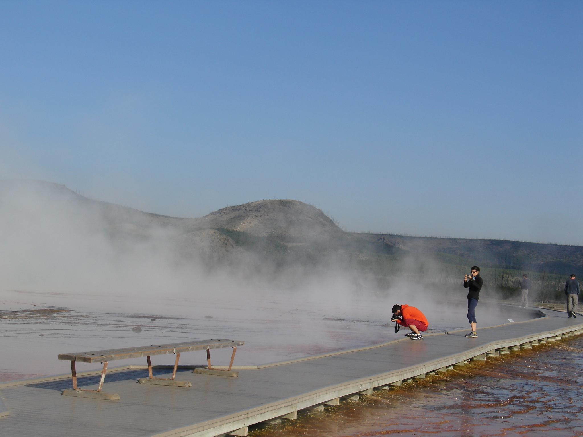 Tourist Scenes Series: Yellowstone ,  Norris Geyser Basin ,  postcard set , 2015, 4 x 6 inches