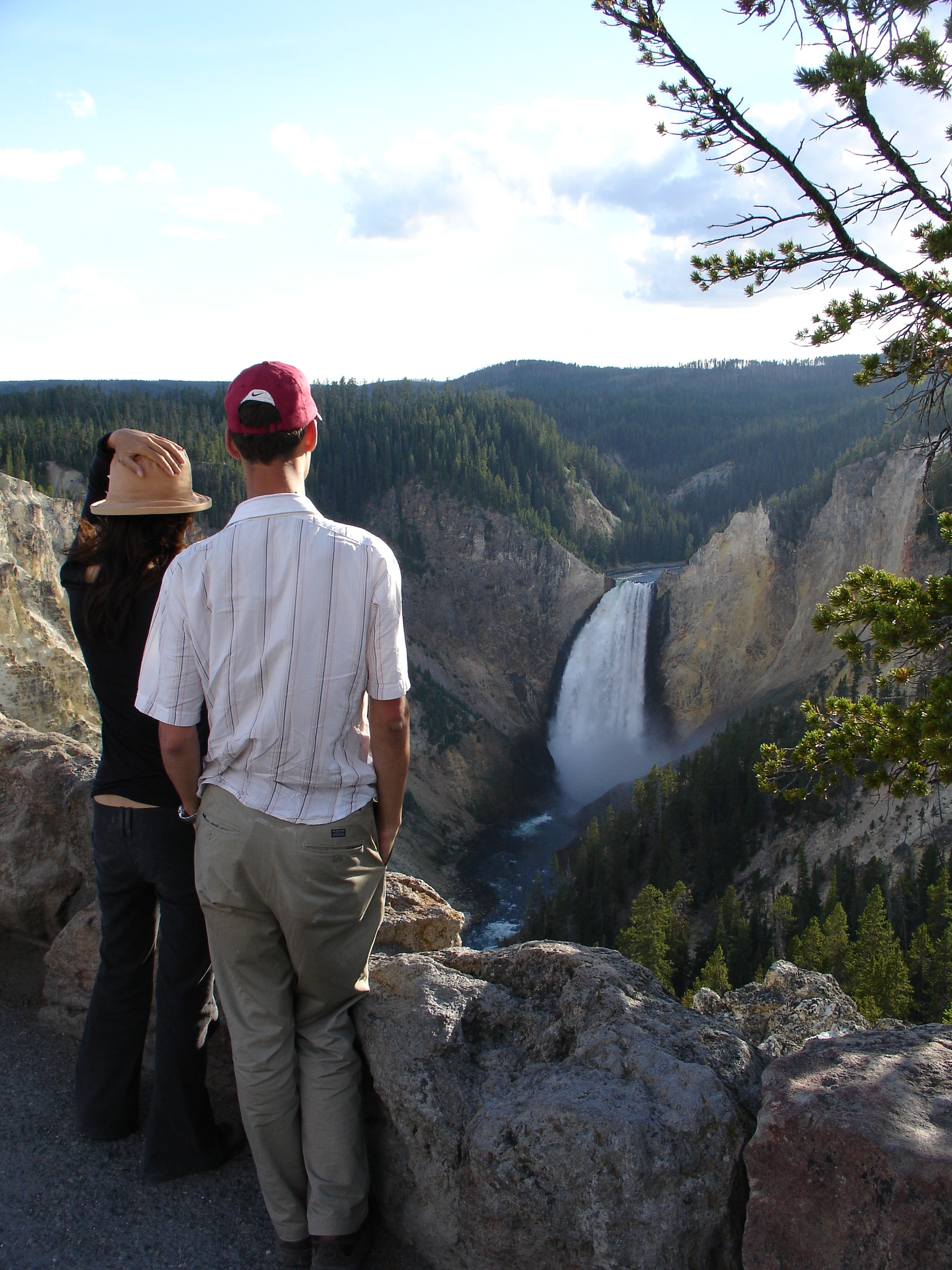Tourist Scenes Series: Yellowstone ,  Lower falls @ Lookout point ,  postcard set , 2015, 4 x 6 inches