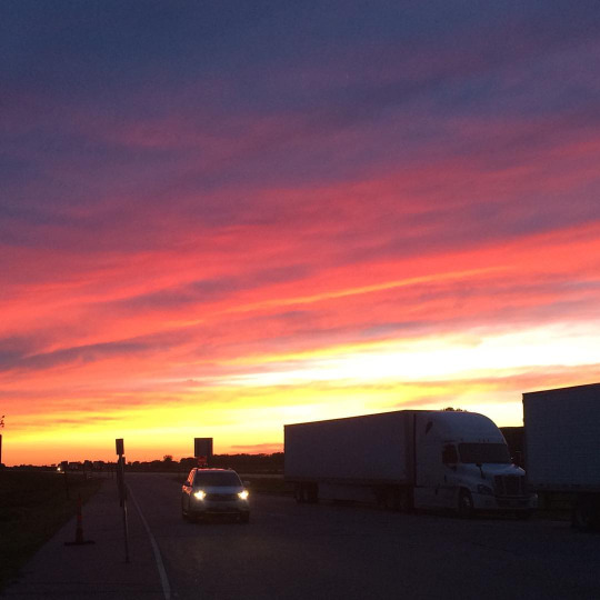 """Sunset in Nebraska"", or ""Goodnight America"""