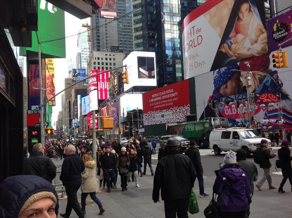 TIMES SQUARE SCENE IN NEW YORK CITY