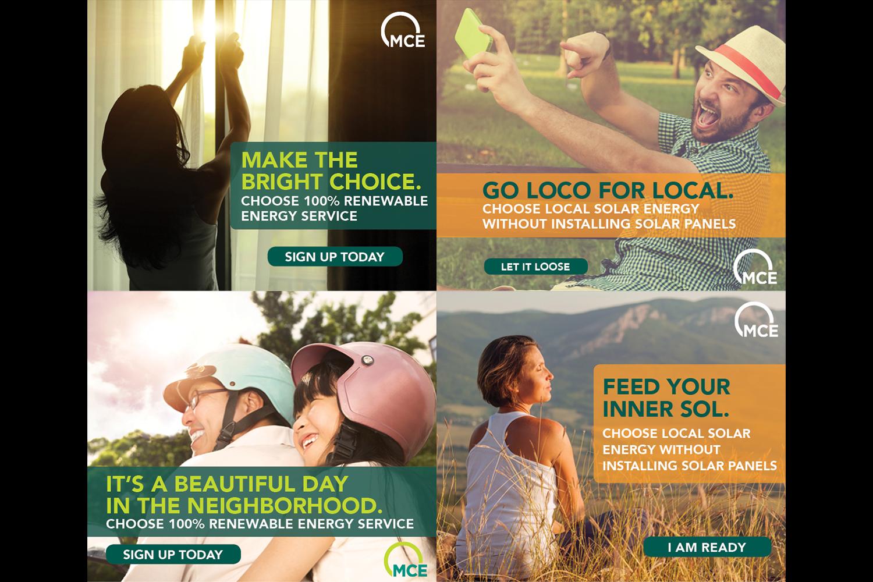 WEB BANNER AD DESIGN, WRITING, MARKETING | Marin Clean Energy