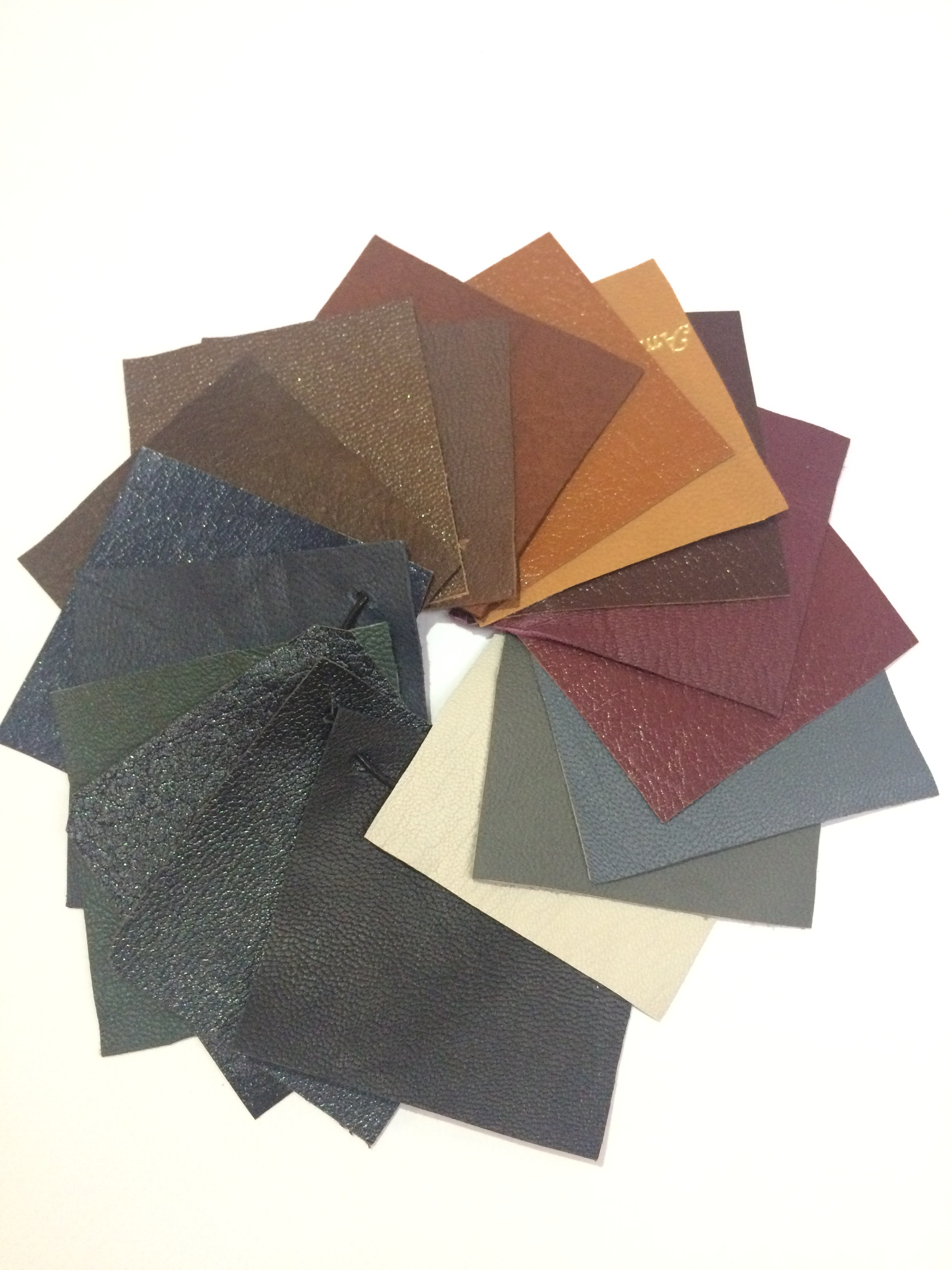 Leather swatches and color option