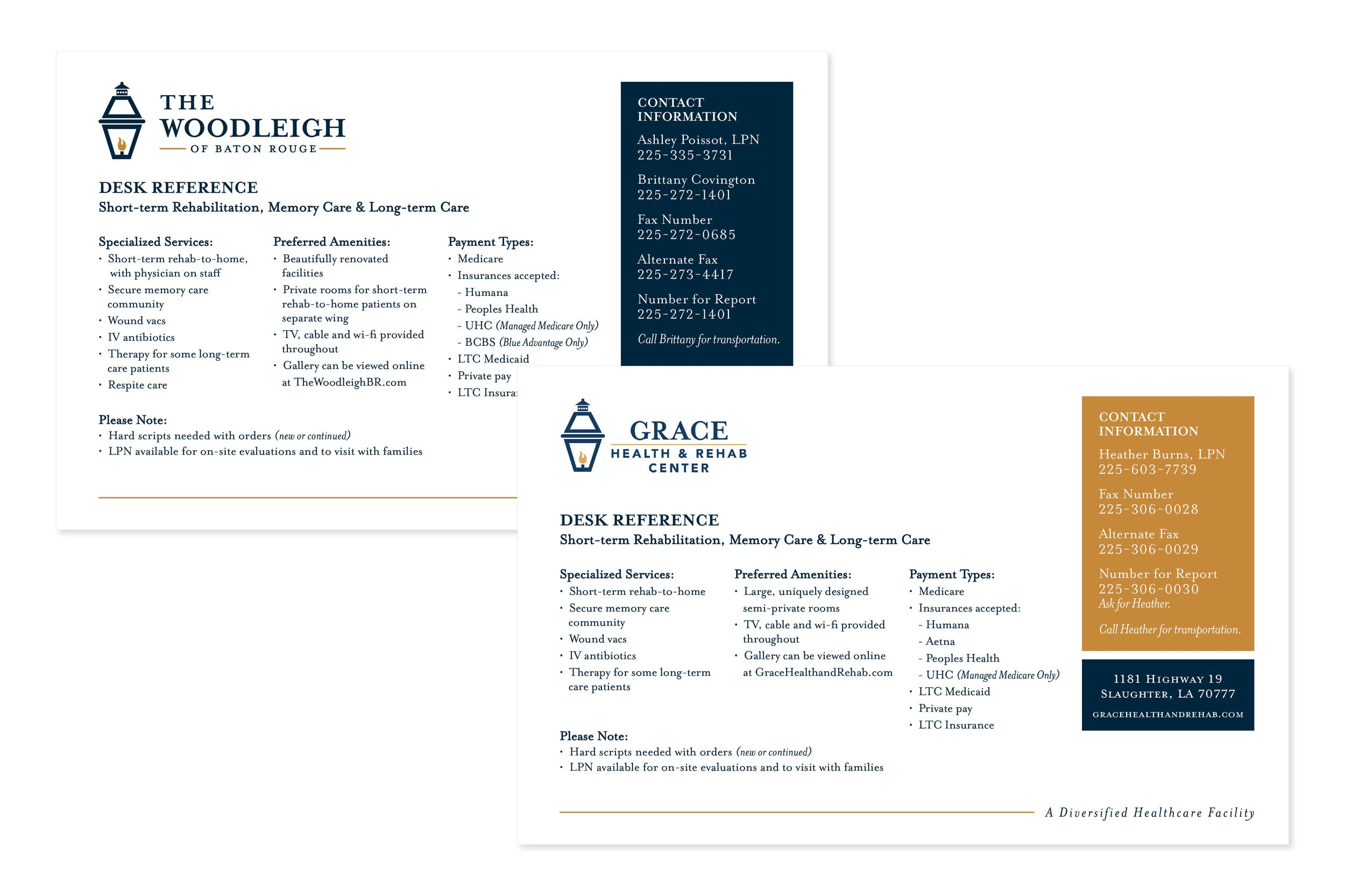 Grace/Woodleigh Desk Reference Card