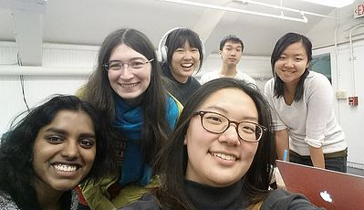 The team behind Rusalka! From left to right: Nivetha Kannan, Miranda Jacoby, Michelle Ma, Soojin Sohn, myself (on top of Soojin's head!), and Emily Zhou. Swetha unfortunately could not make this picture.