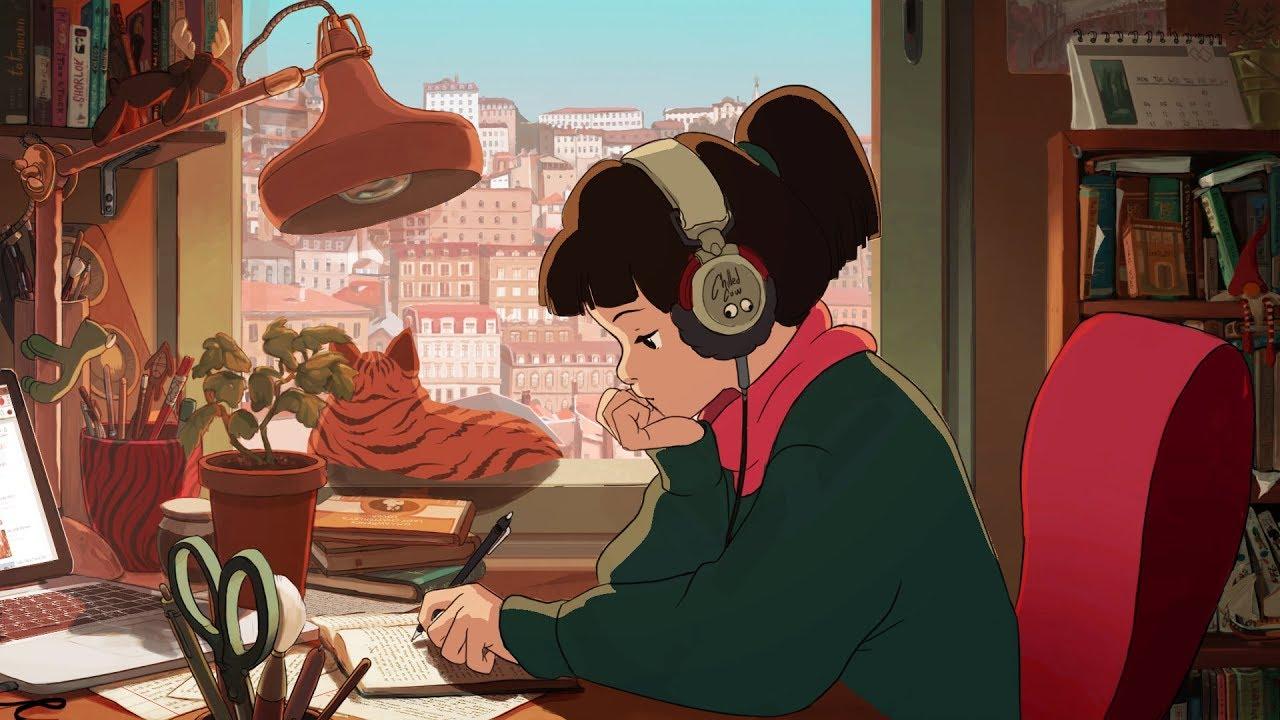 The original animation from Chilled Cow's lofi hip hop stream (originally created by Juan Machado)