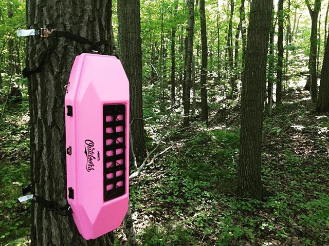 Who said hunting is only for men?  Pink version of our Timber Locker! #deerhunting #locker #women #pink #concept #deer #hunting