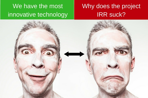 We have the most innovative tech, why does the project IRR suck?