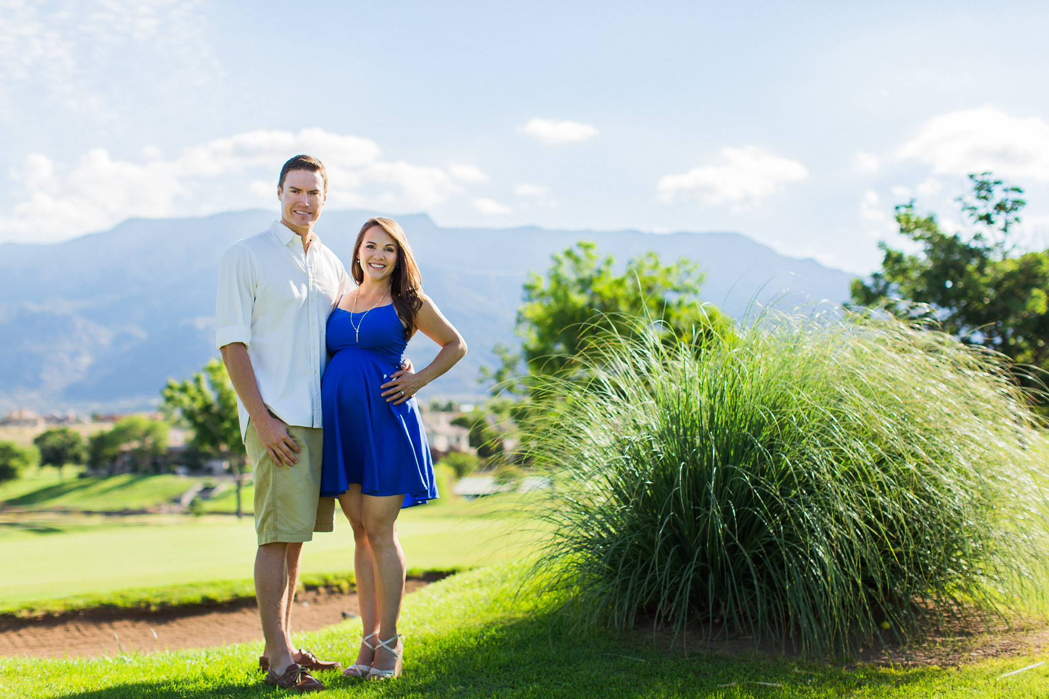 A Golf Course Maternity Session