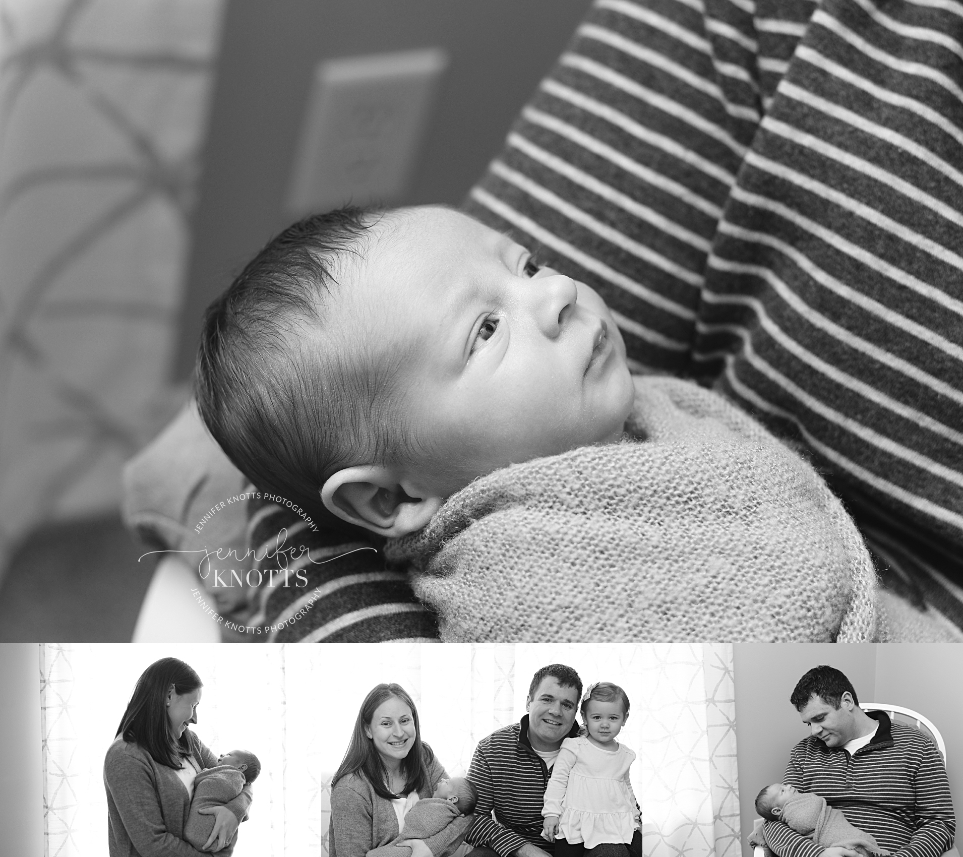 mom and dad hold newborn baby boy during Wilmington newborn photography session