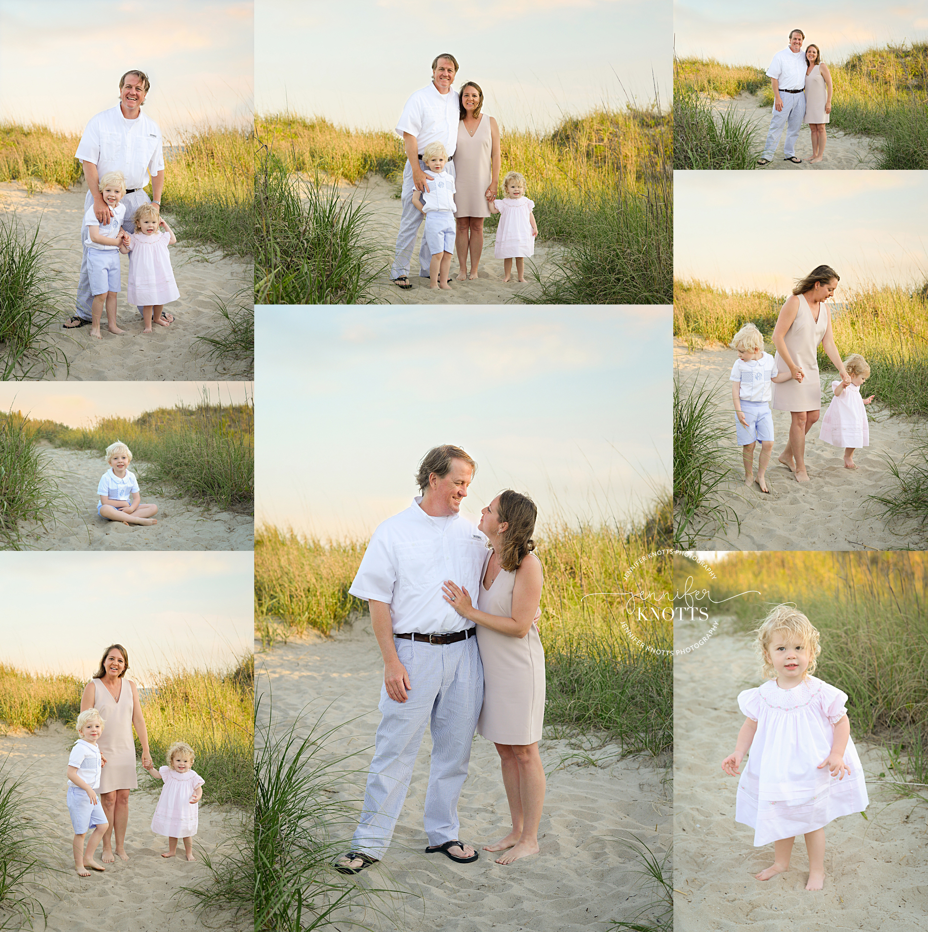 oak island nc photographer captures family of four playing on the beach
