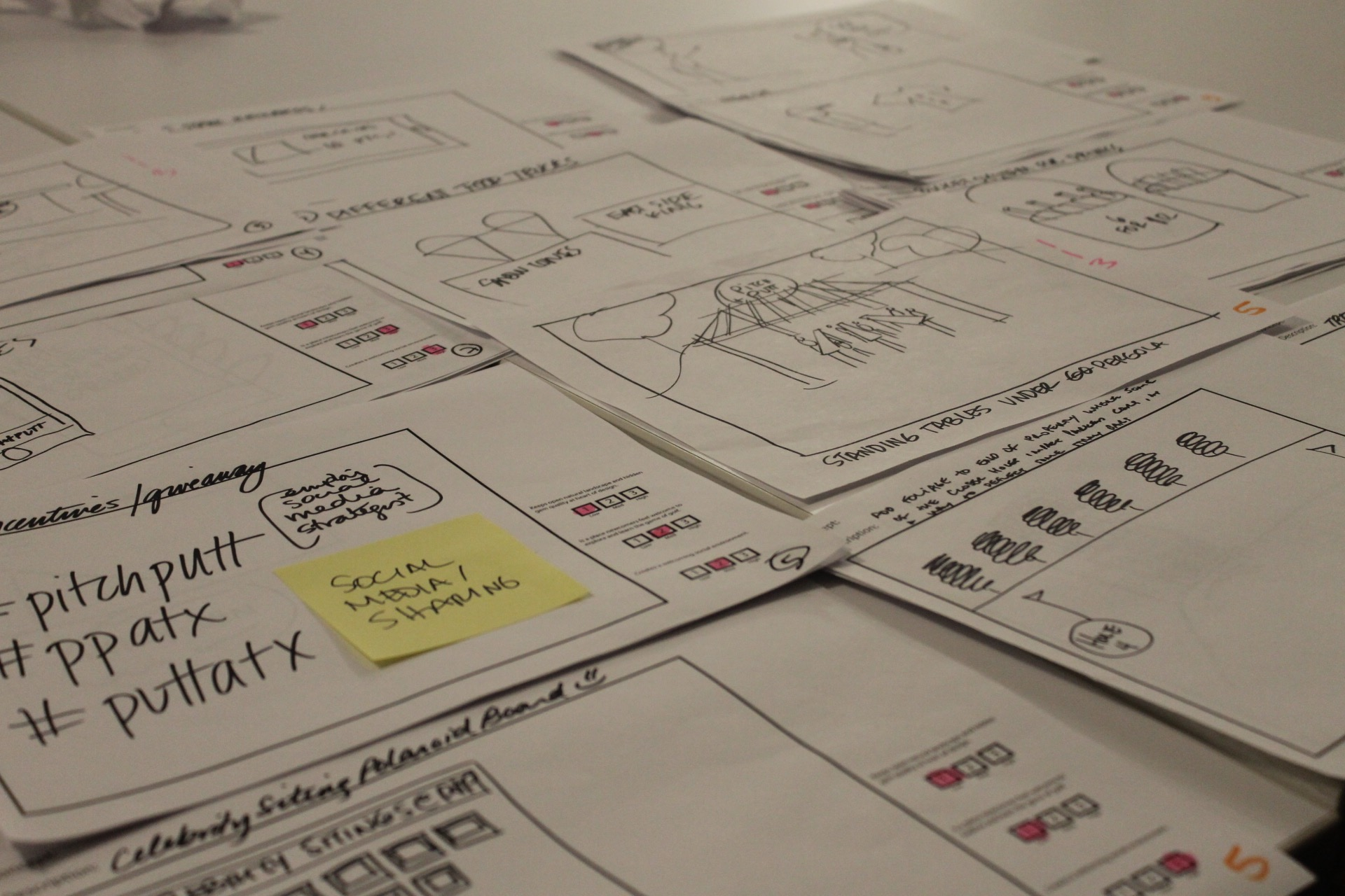 We sketched and ideated over 100 concepts then came together to rate them against our Design Criteria.