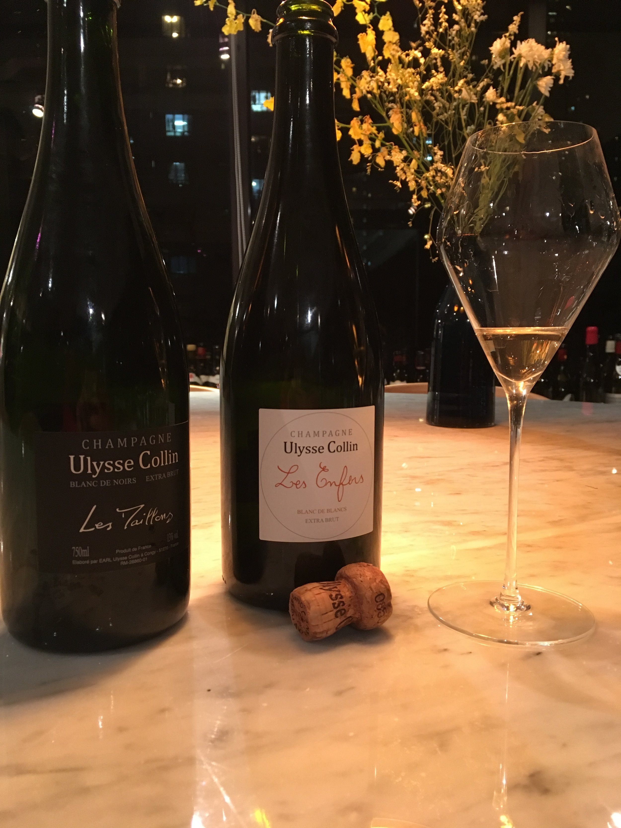 Ulysse Collin champagnes at the office