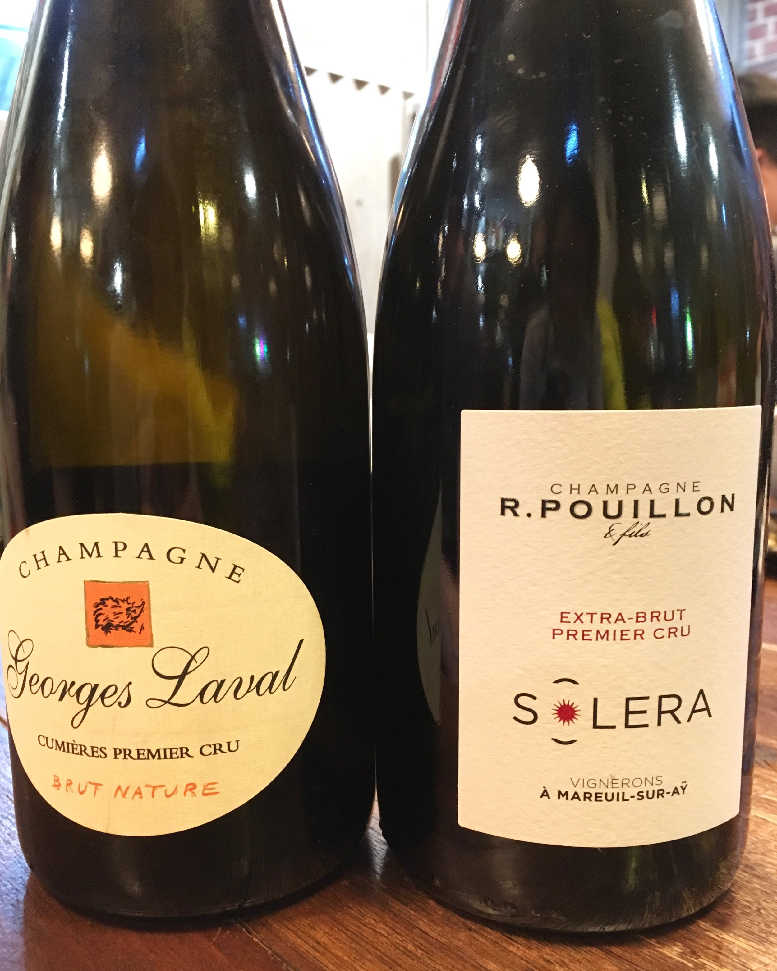 Champagnes for the new year, Dec 2017.