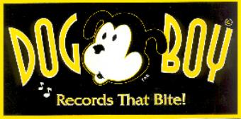 Dog Boy Records bumper sticker designed by Tom Rozum