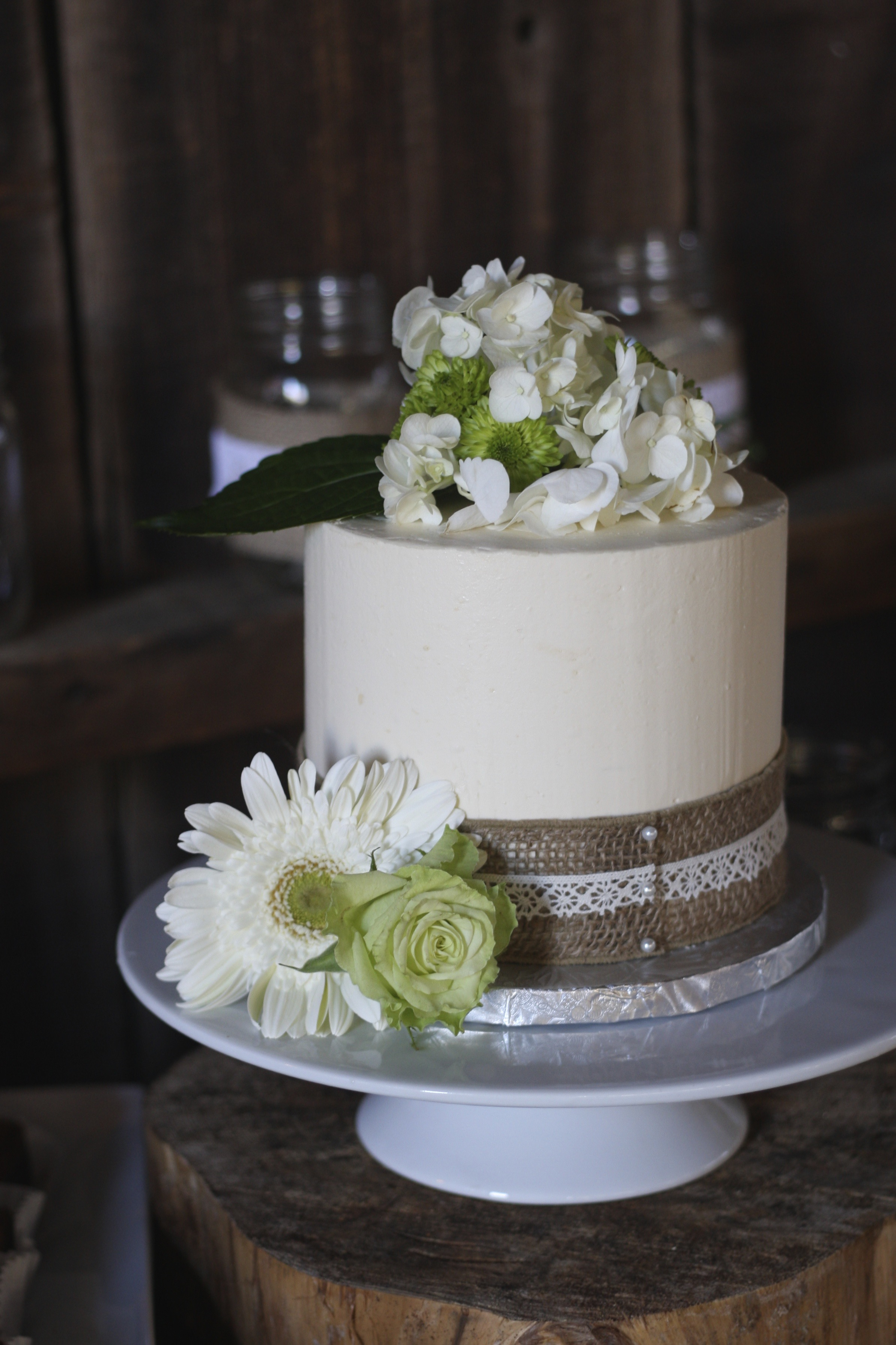 Smooth Buttercream Wedding Cake