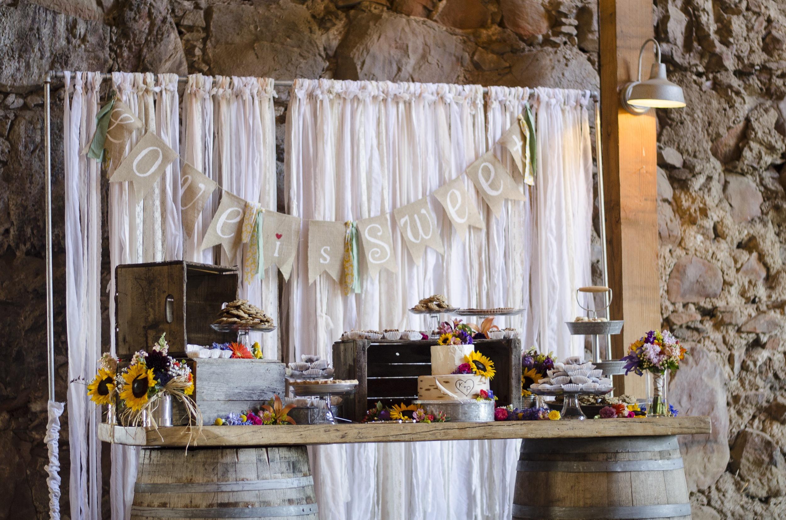 Wedding Cake and Dessert Buffet at Santa Margarita Ranch