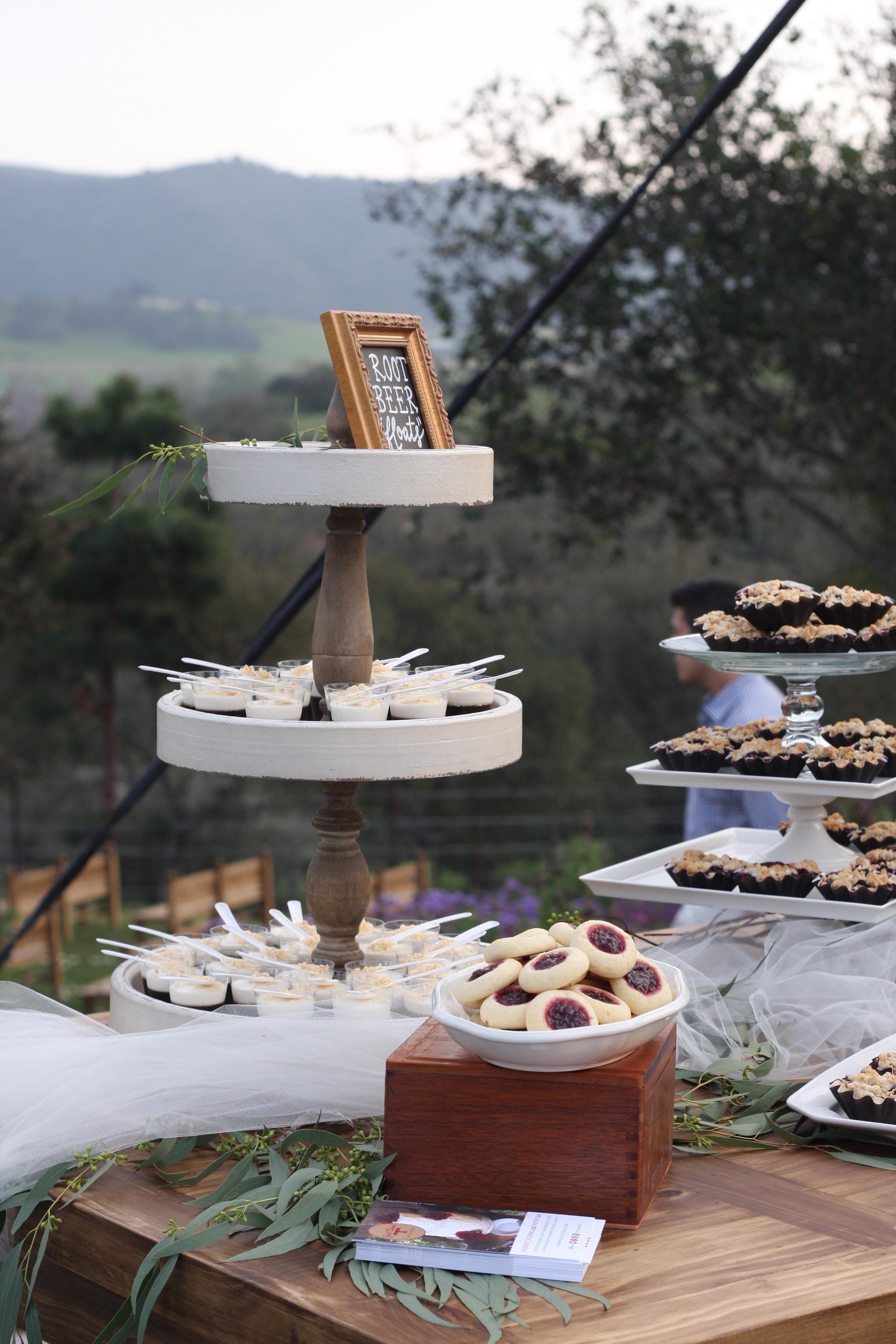 Dessert Buffet at the Casitas Estate, Arroyo Grande