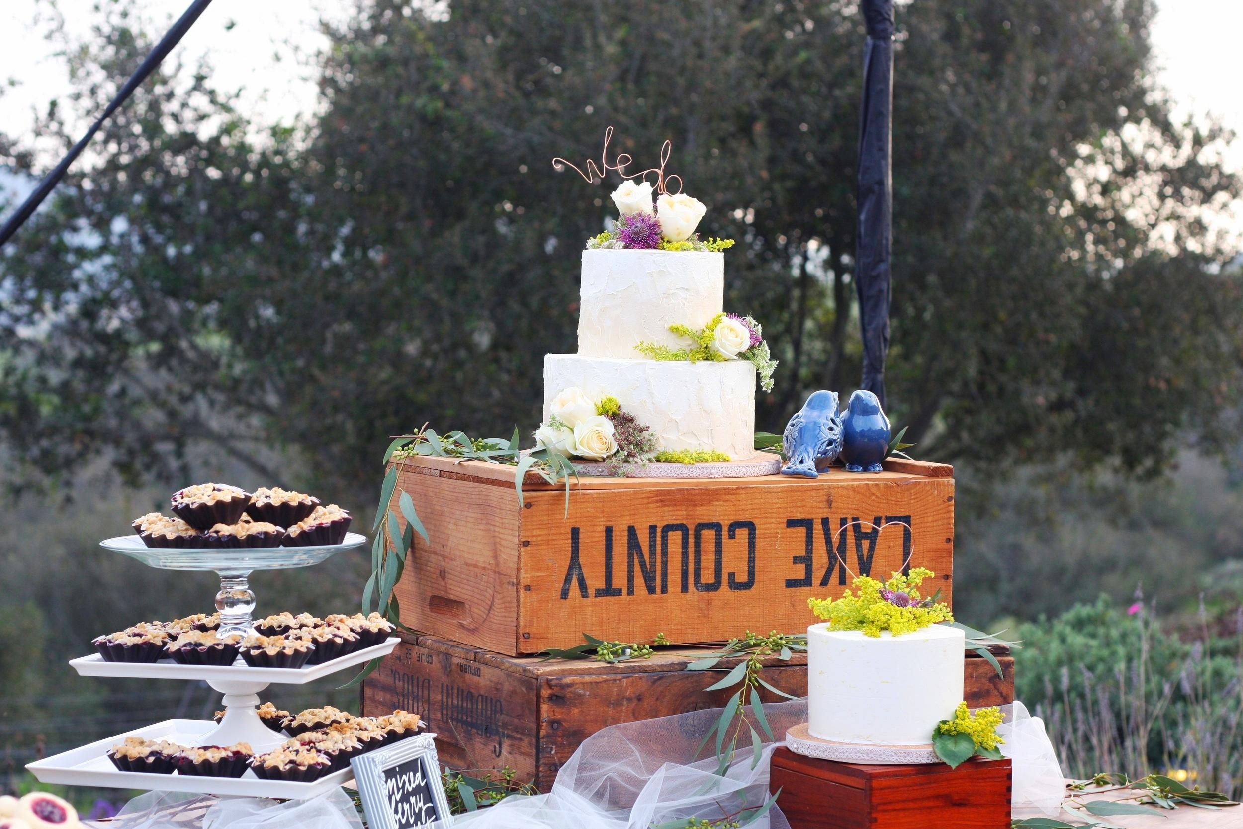 Dessert Buffet & Wedding Cake at the Casitas Estate, Arroyo Grande