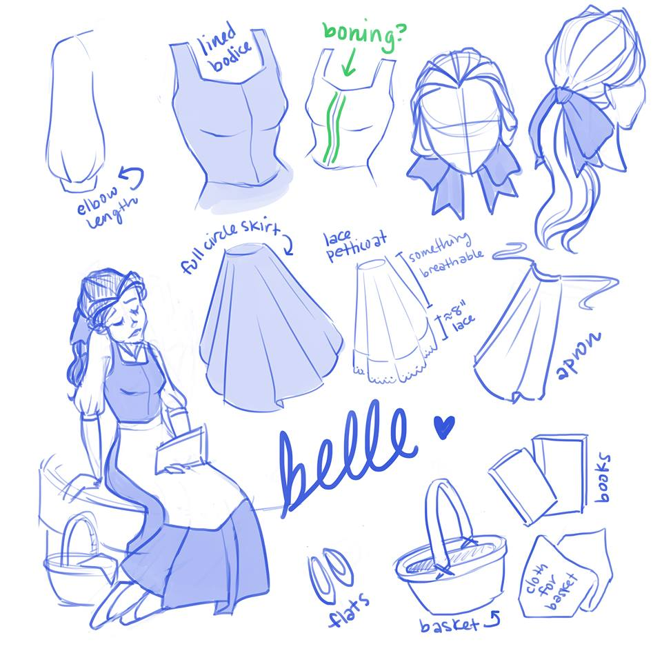 Belle sketches