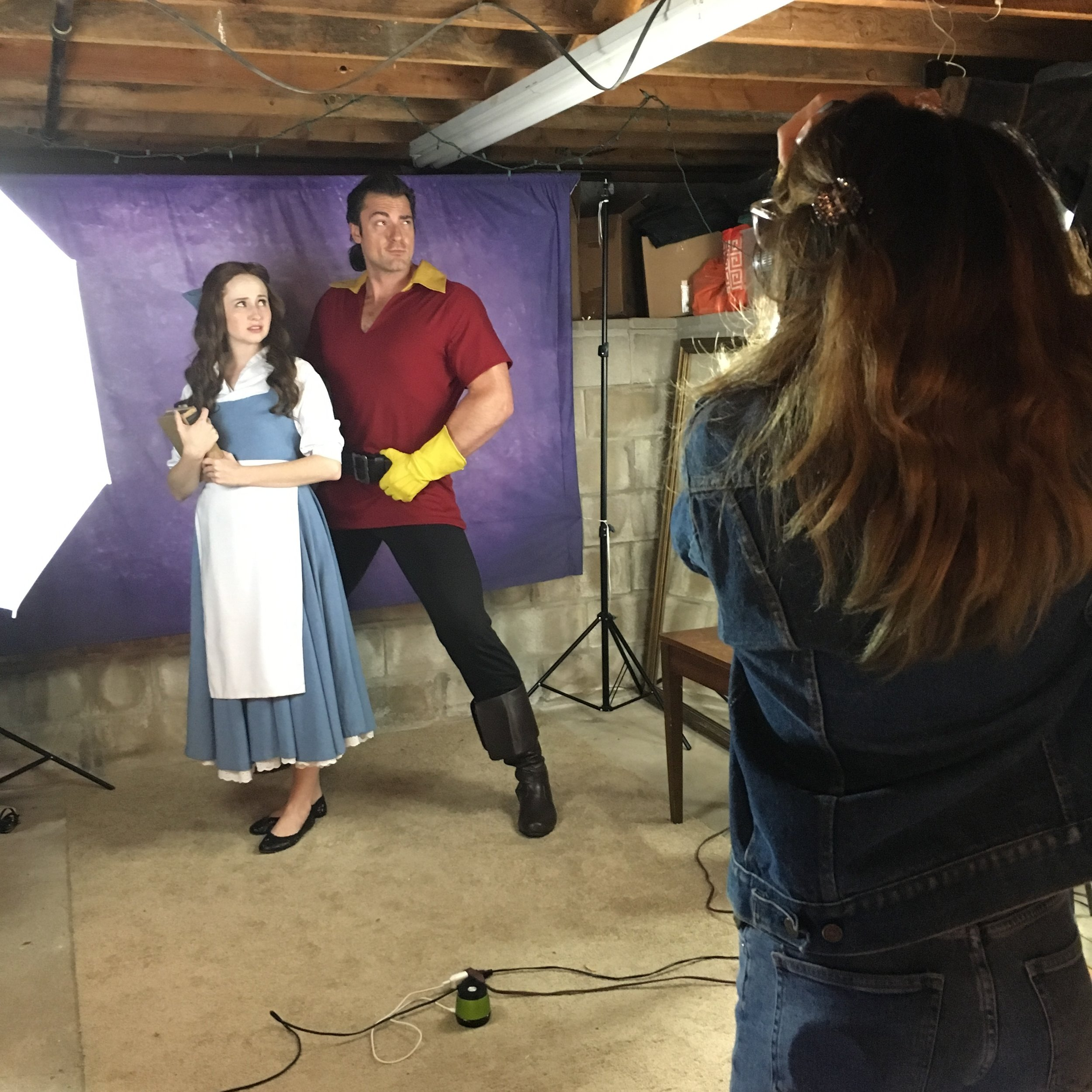 Mary Kate as Belle and Jesse as Gaston