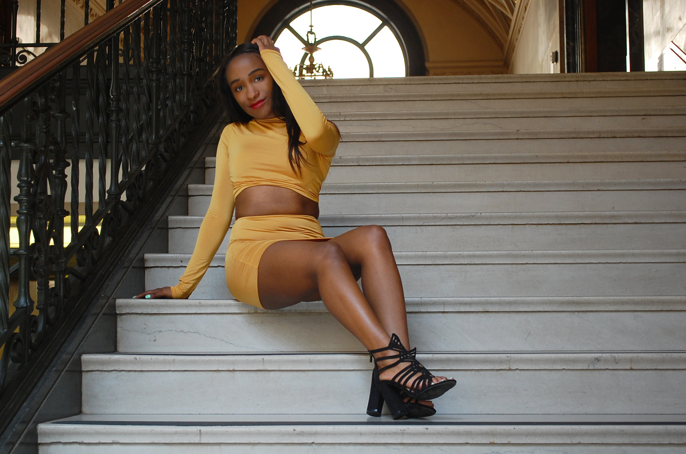 THE DEETS:  Over-the-Hand 2 Piece Set -   Sorella  ; Detailed Cut-Out Booties -   A'GACI *  *similar style, same brand
