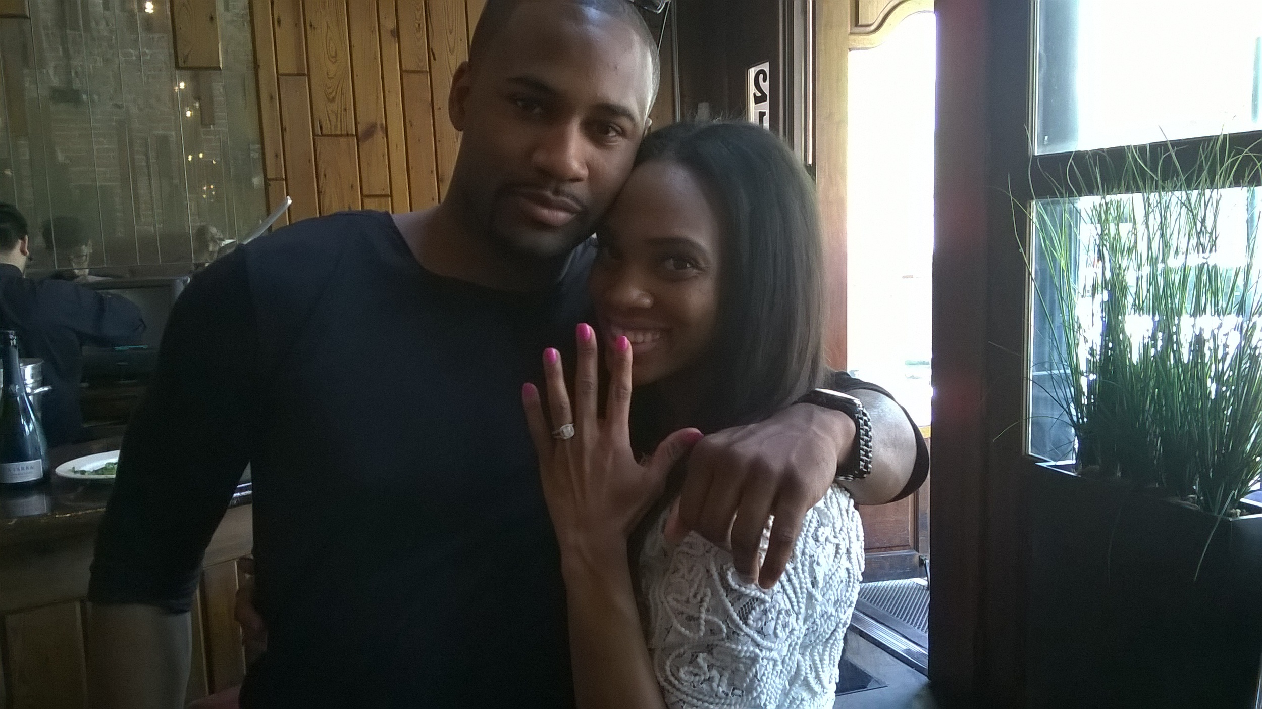 Brandon got down on one knee and asked Tara to marry him.  SHE SAID YESSSS!!!