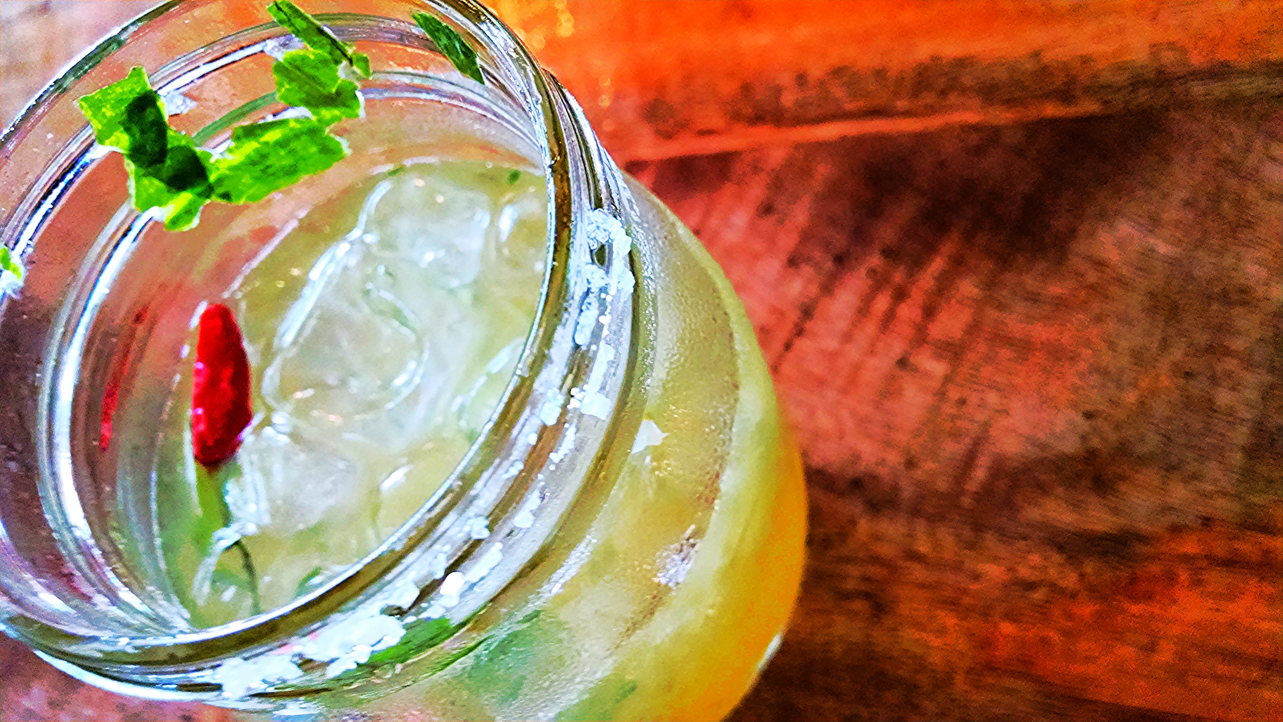 Refreshing, electrolyte replenishing non-alcoholic drink with a bit of spice for your day!