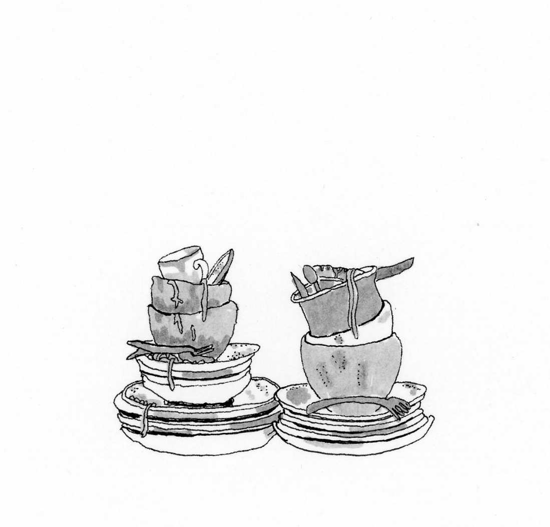 Pile pf Dirty Dishes, 2015
